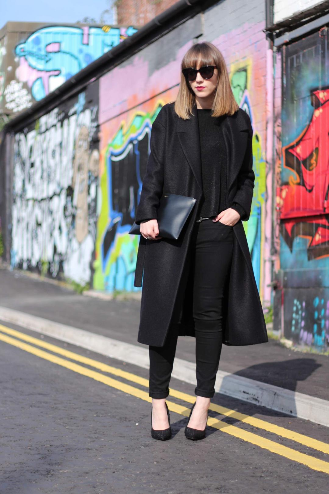 kurt geiger gemini heels cos oversized wool coat saint laurent clutch