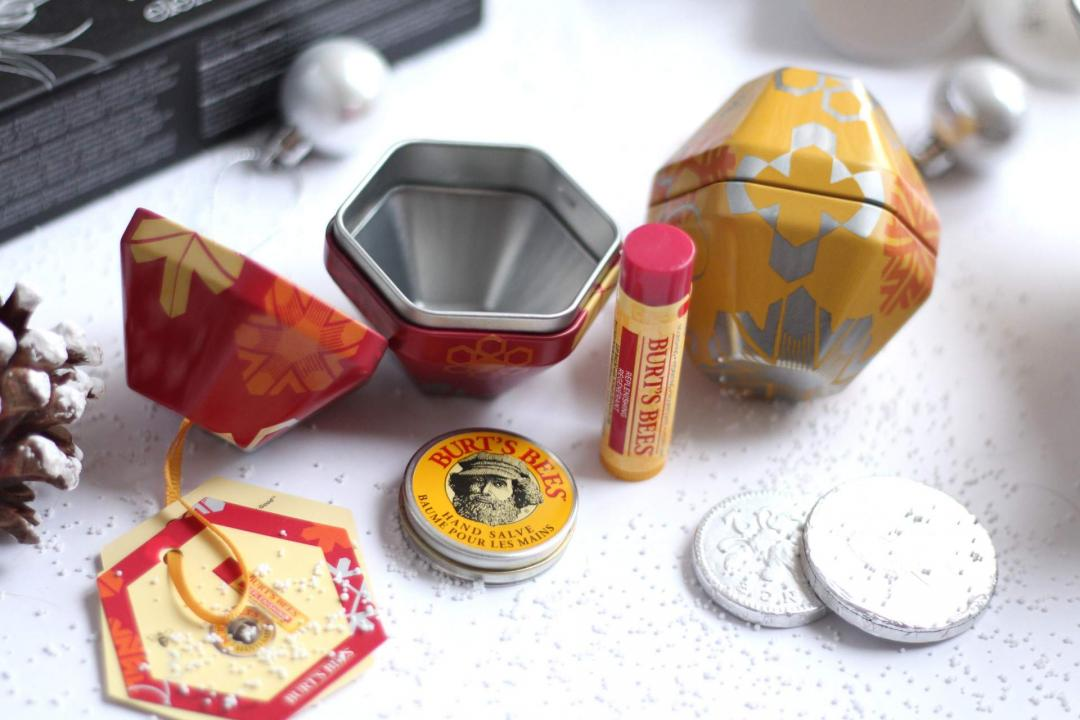 christmas-gift-guide-skincare-burts-bees-decorations-hand-salve-lip-balm