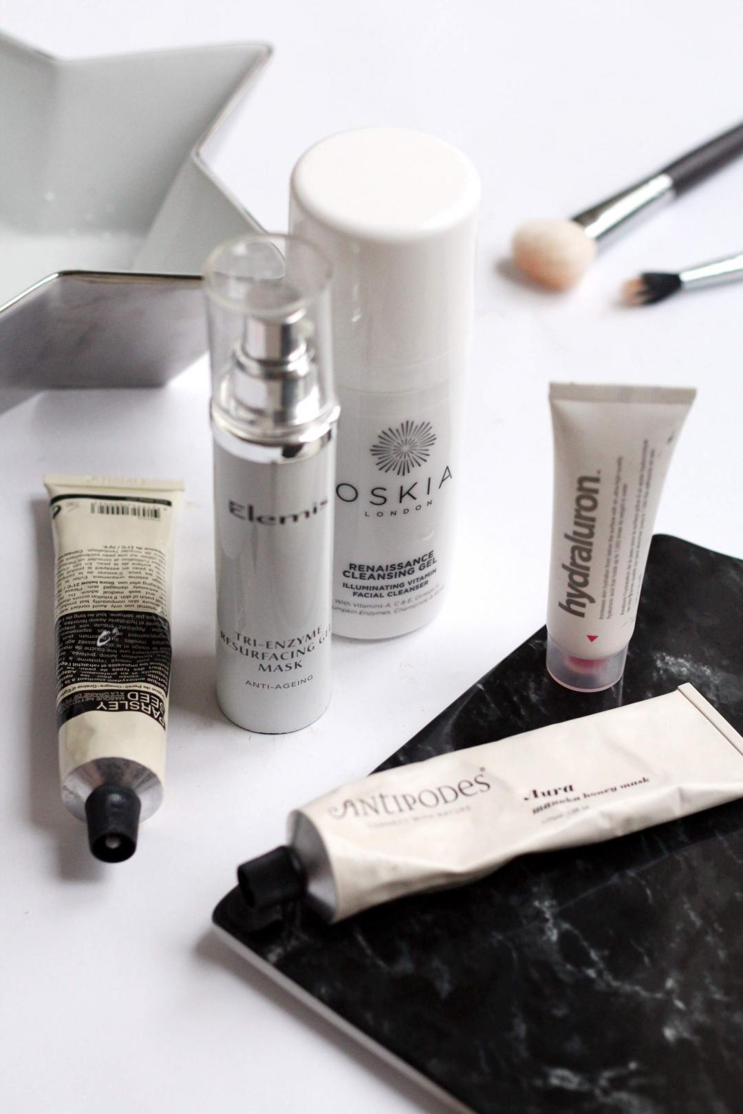 party-prep-skincare-oskia-cleansing-gel-elemi-mak-aesop-parsley-seed-antipodes-aura-hydraluron-1