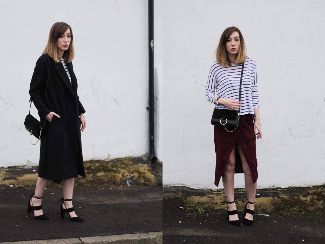 january-asos-suede-wrap-skirt-COS-belted-coat-whistles-lace-up-heels-stripe-top-11