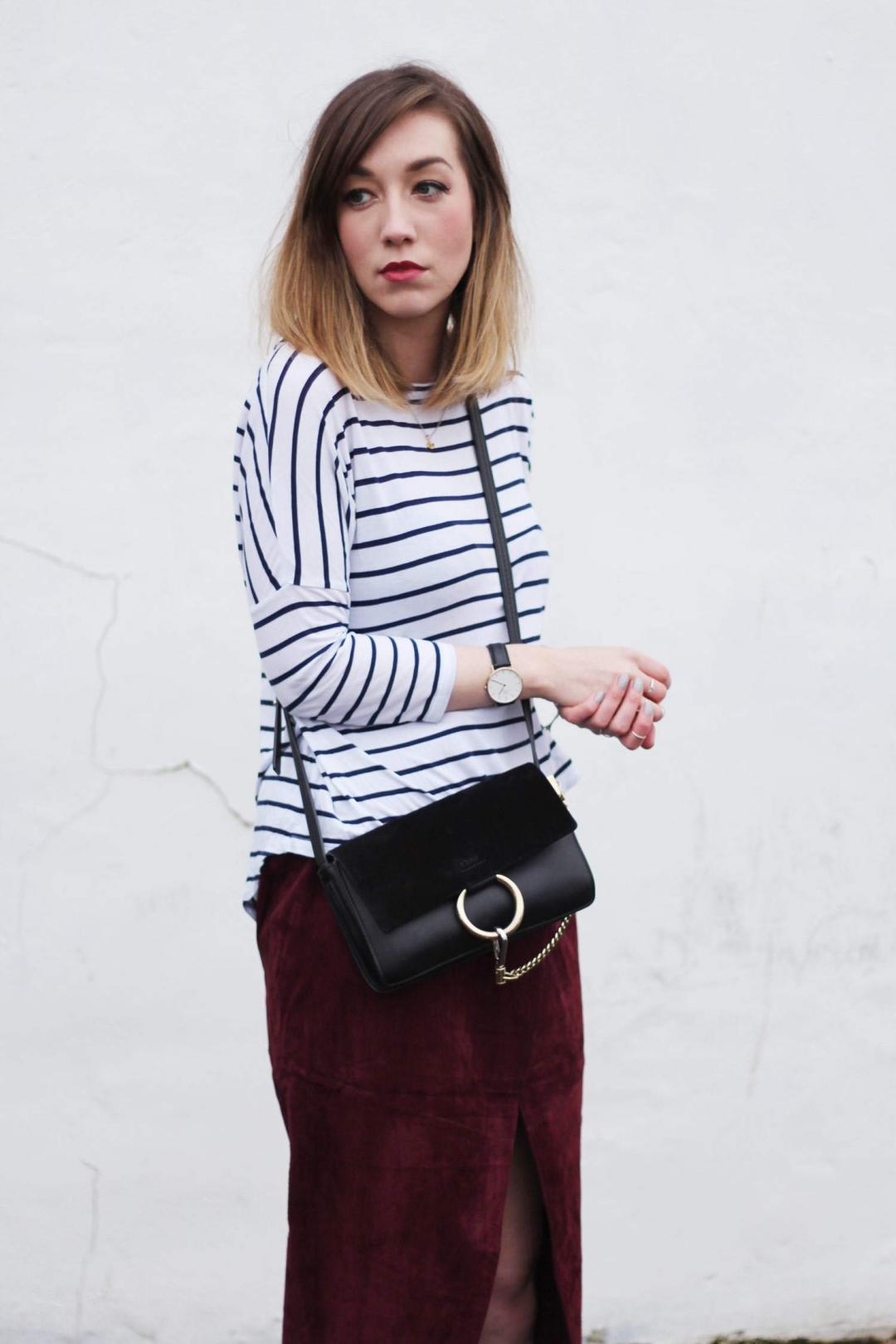 january-asos-suede-wrap-skirt-COS-belted-coat-whistles-lace-up-heels-stripe-top-5