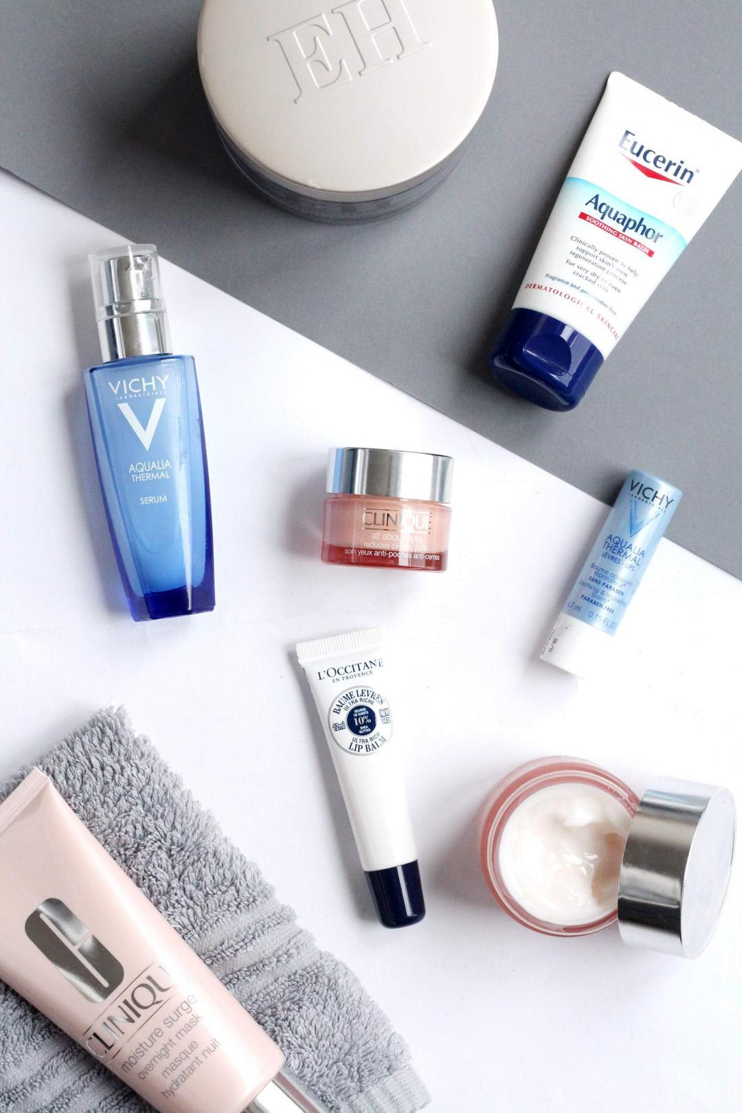 skincare-haul-clinique-moisture-surge-range-review-vichy-squalia-thermal-serum-lip-balm