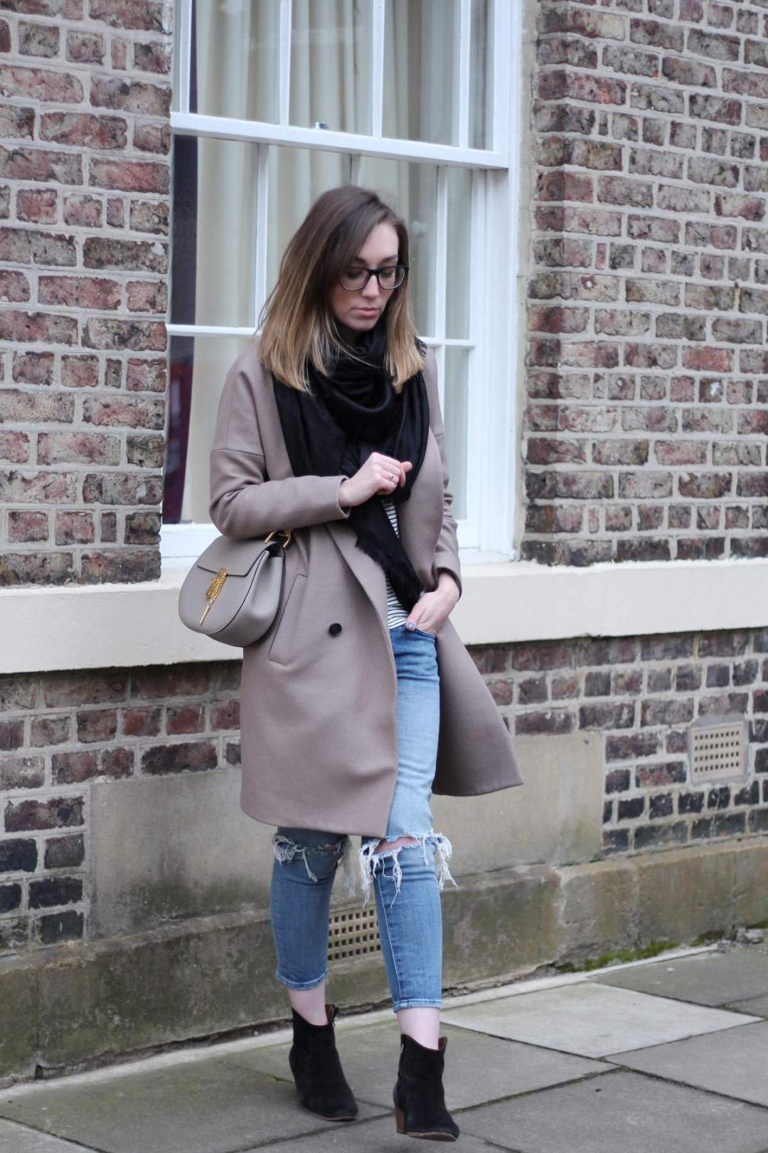 all-saints-ember-nesi-coat-chloe-drew-grey-ripped-jeans-louis-vuitton-black-scarf-1