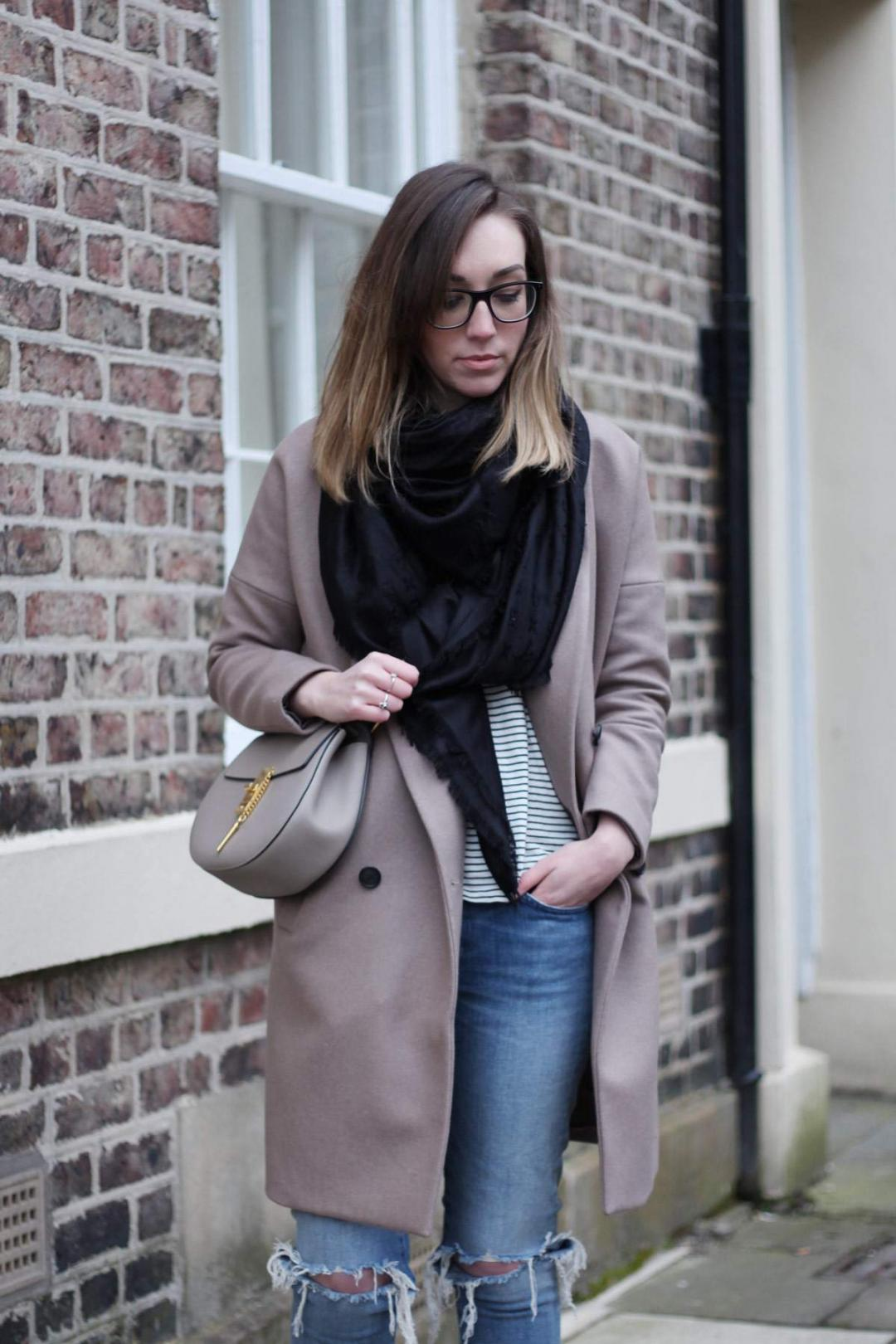 all-saints-ember-nesi-coat-chloe-drew-grey-ripped-jeans-louis-vuitton-black-scarf-4