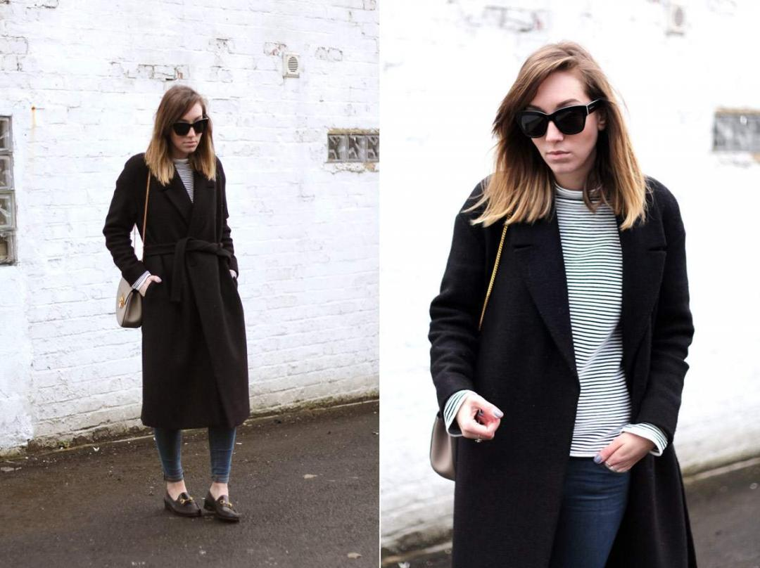 cos-coat-gucci-loafers-warehouse-striped-jumper-chloe-drew-grey-outfit-14