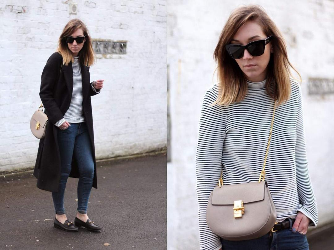 cos-coat-gucci-loafers-warehouse-striped-jumper-chloe-drew-grey-outfit-15
