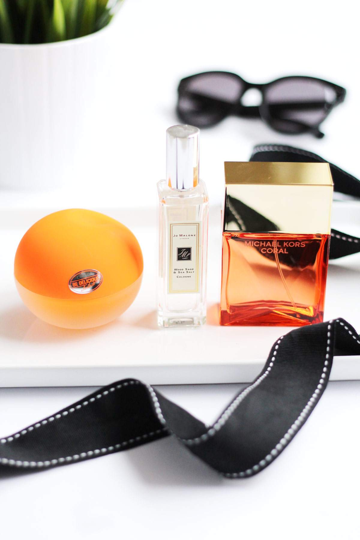 spring-perfume-michael-kors-coral-DNKY-be-delicious-electric-orange-jo-malone-wood-sage-sea-salt