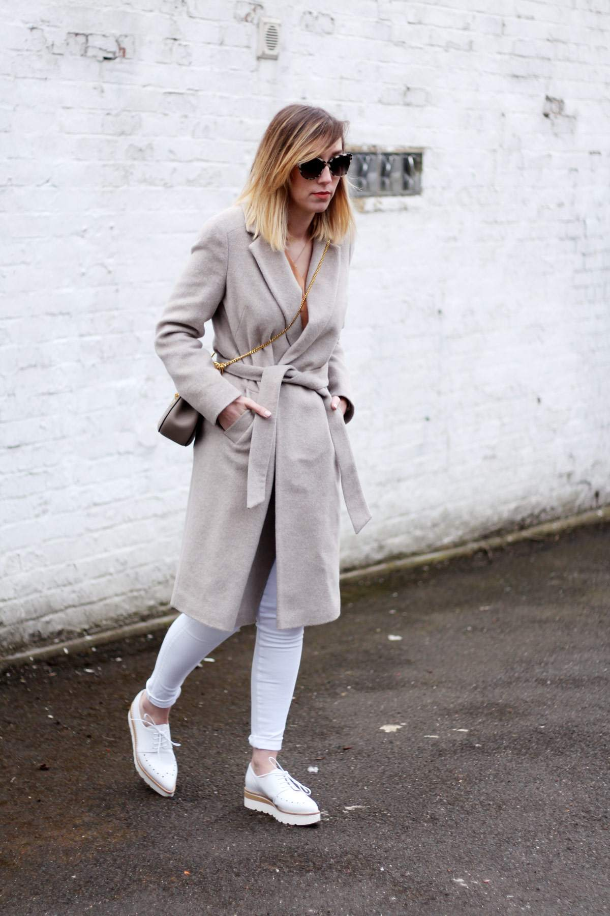 M&S-belted-coat-alberto-zago-brogue-shoes-chloe-drew-grey-hudson-white-jeans