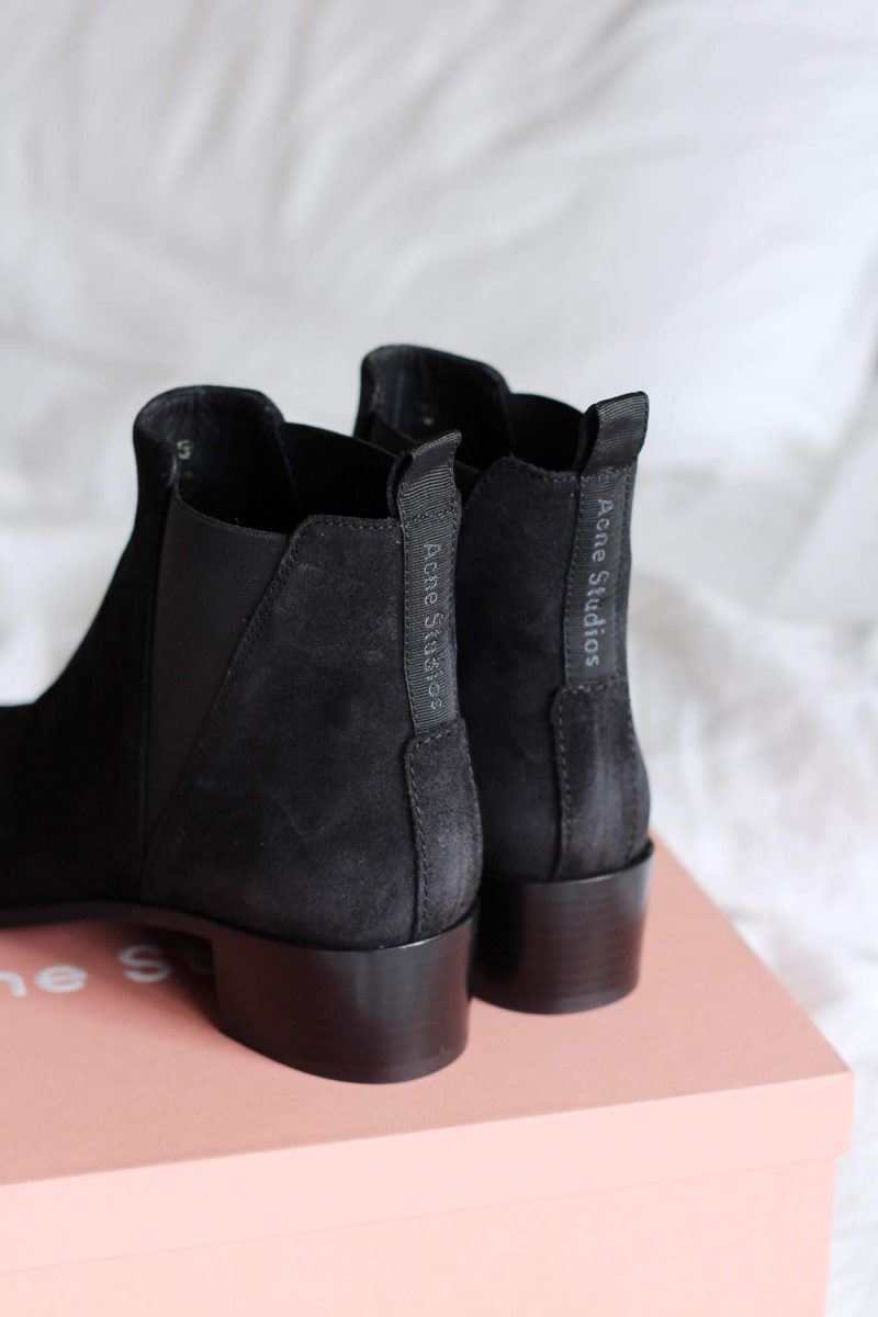 New In: Acne Jensen Boots in Black Suede