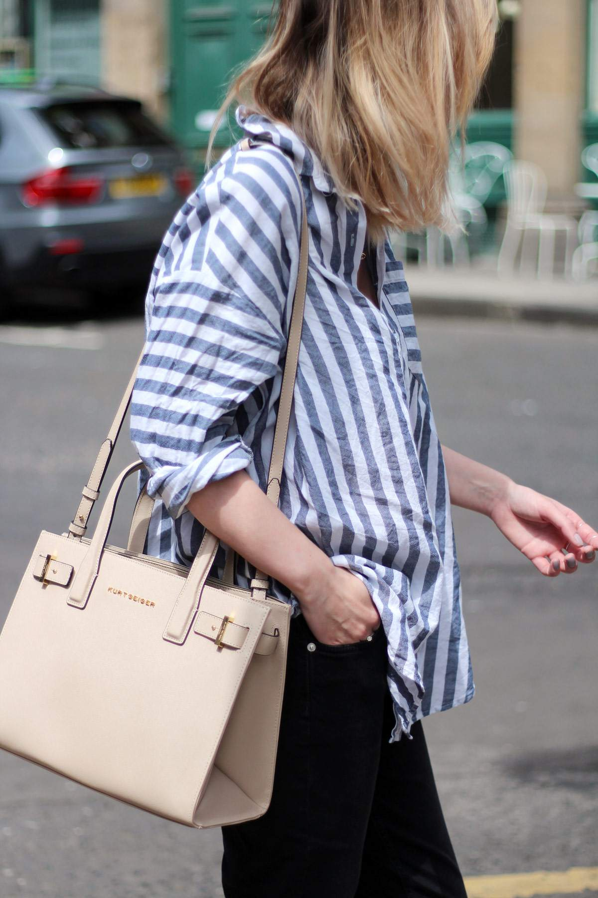 kurt-geiger-espadrille-wedge-heel-black-beige-bag-asos-stripe-shirt-celine-audrey-sunglasses-12
