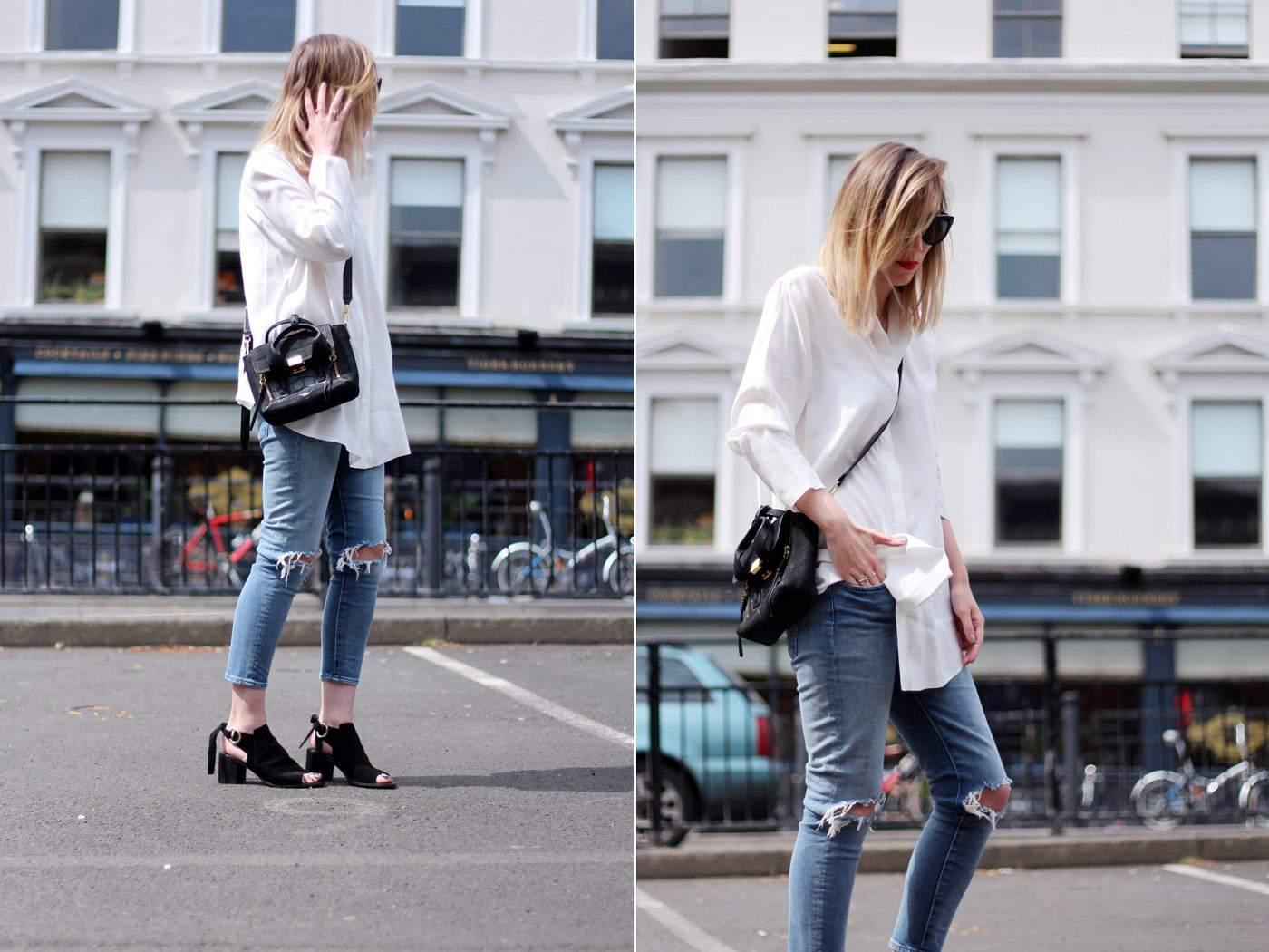 kurt-geiger-suede-peep-toe-boots-7FAM-jeans-COS-white-shirt-phillip-lim-pashli-mini-1.1
