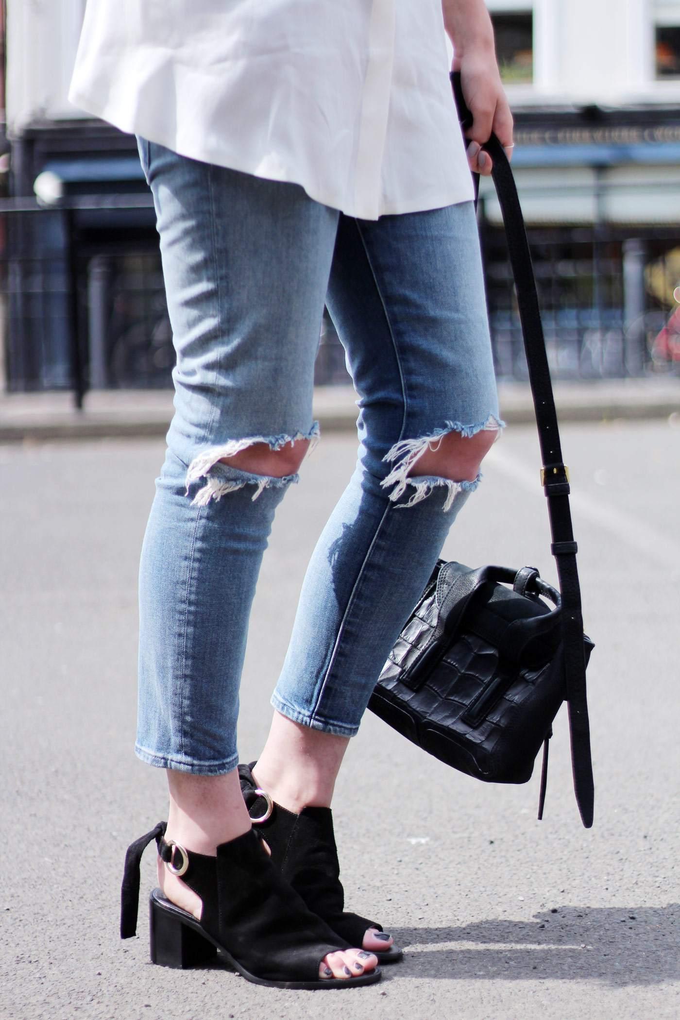 kurt-geiger-suede-peep-toe-boots-7FAM-jeans-COS-white-shirt-phillip-lim-pashli-mini-10