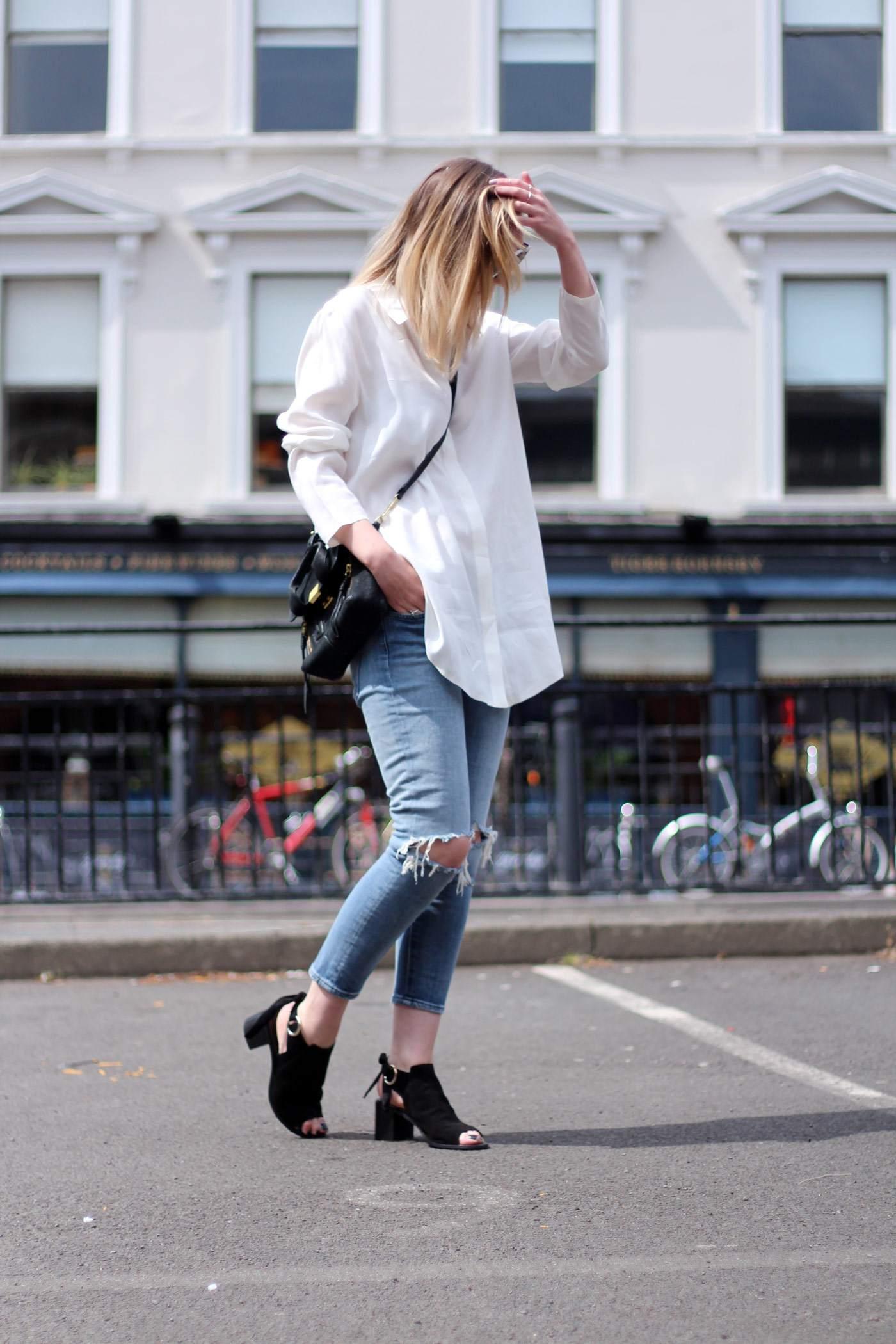 kurt-geiger-suede-peep-toe-boots-7FAM-jeans-COS-white-shirt-phillip-lim-pashli-mini-5