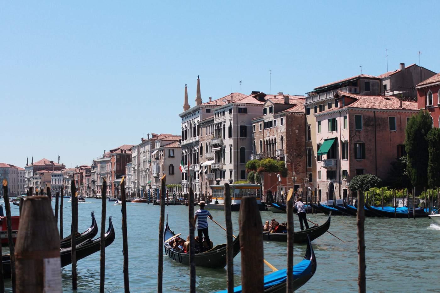 Venice canal gondolas