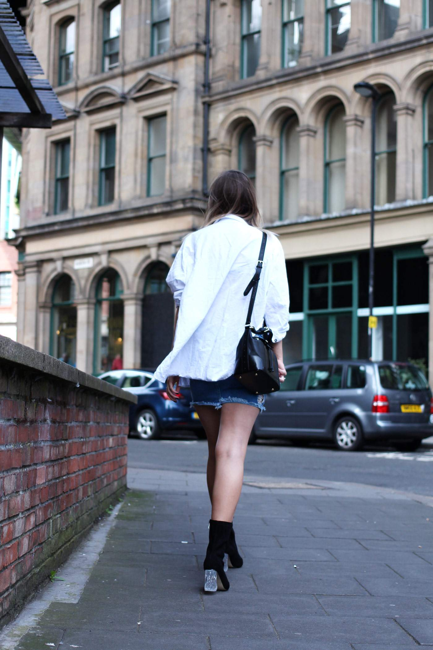 ego-boots-denim-skirt-oversized-white-shirt-radley-bag-2