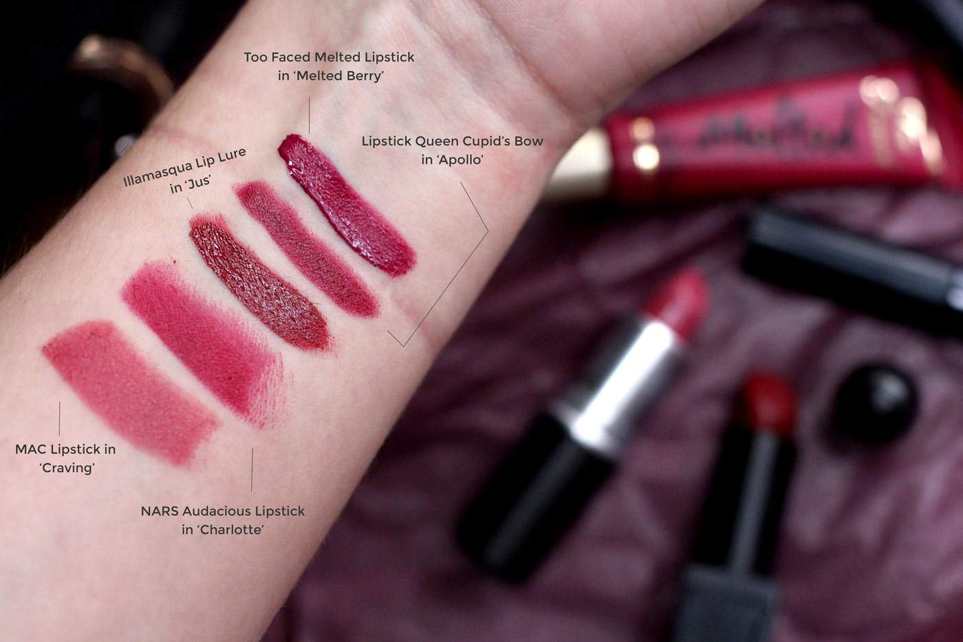 berry-lipsticks-for-autumn-september-mac-craving-nars-charlotte-illamasqua-jus-too-faced-1