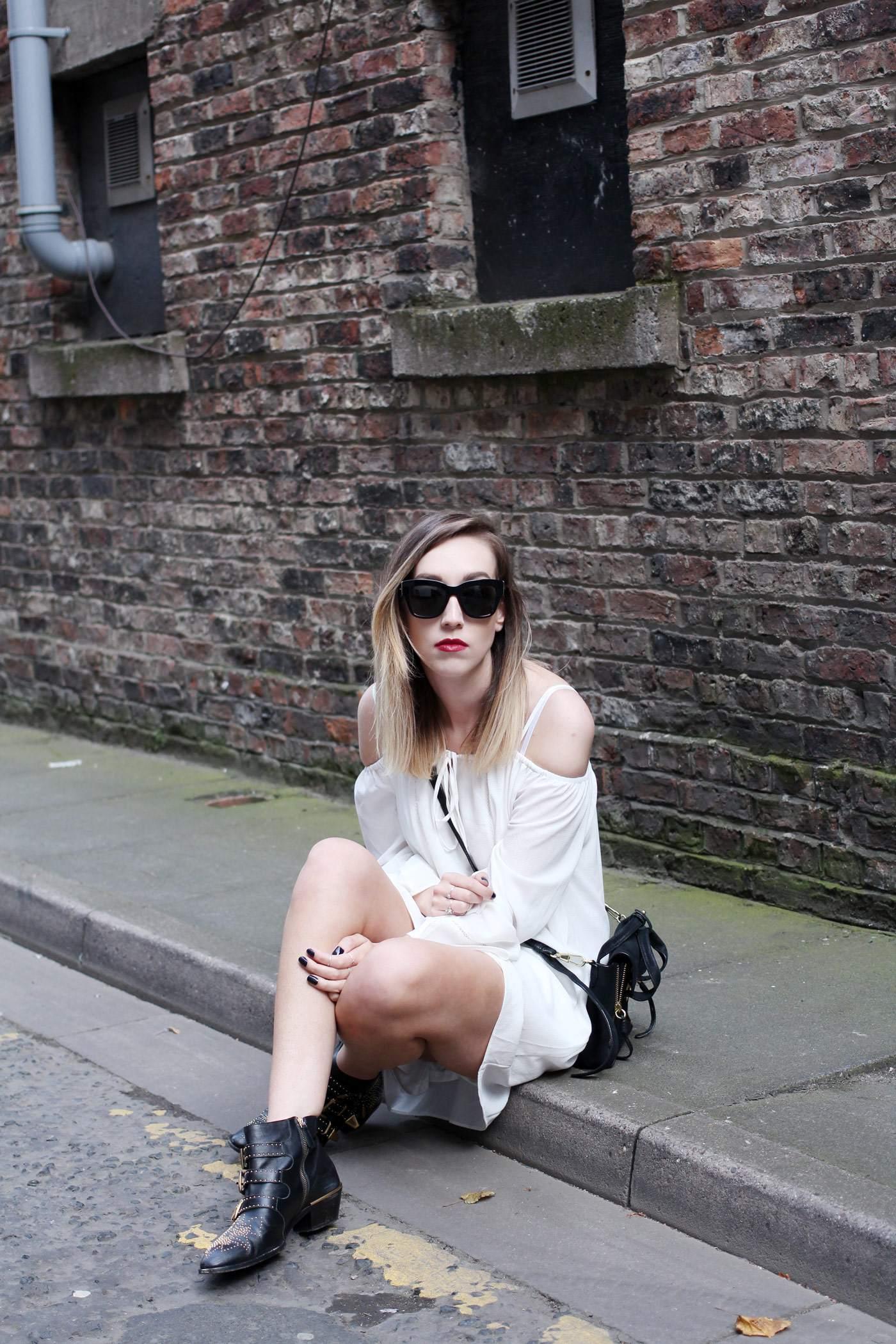 white-off-shoulder-dress-phillip-lim-pashli-mini-chloe-susanna-boots-10