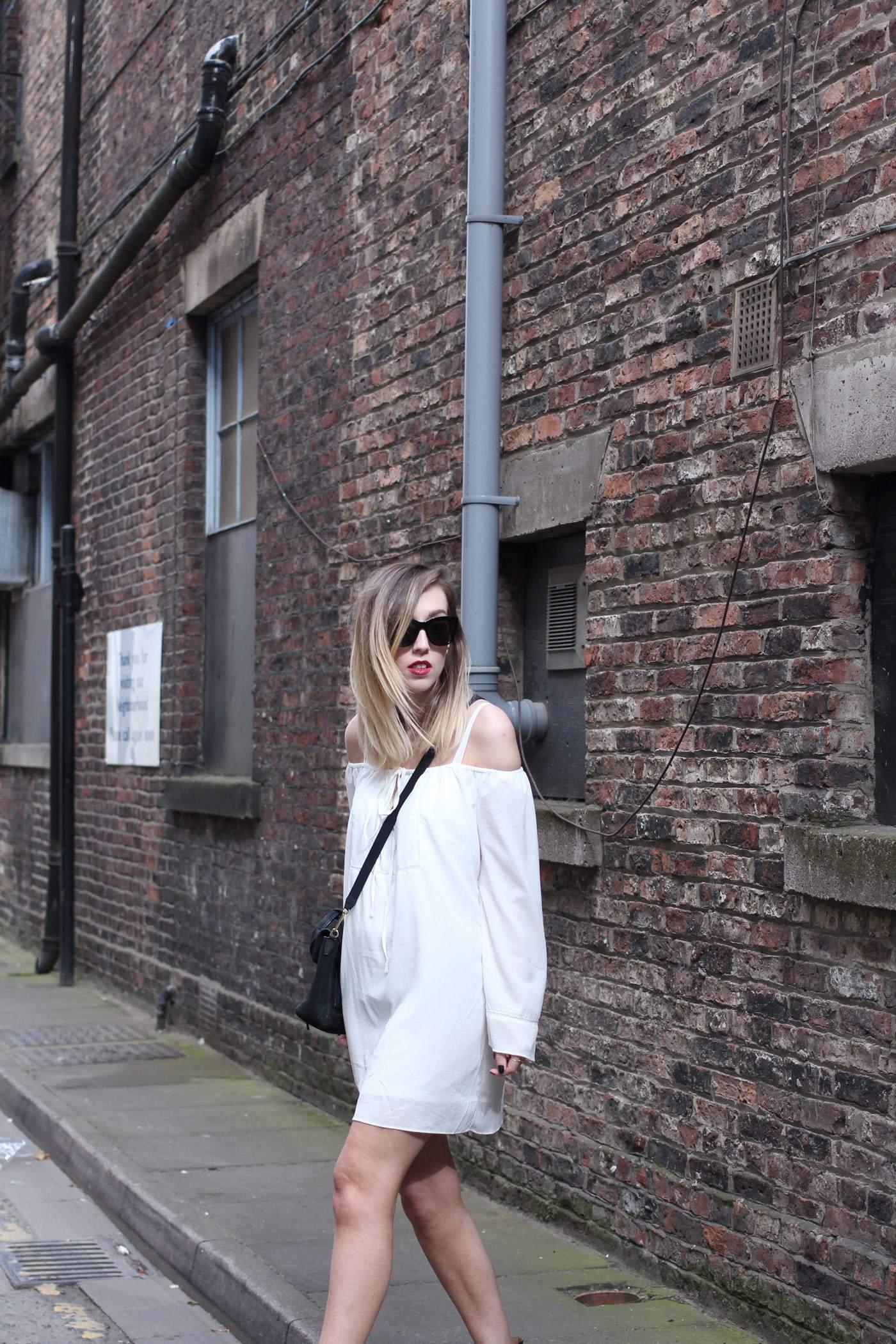 white-off-shoulder-dress-phillip-lim-pashli-mini-chloe-susanna-boots-2