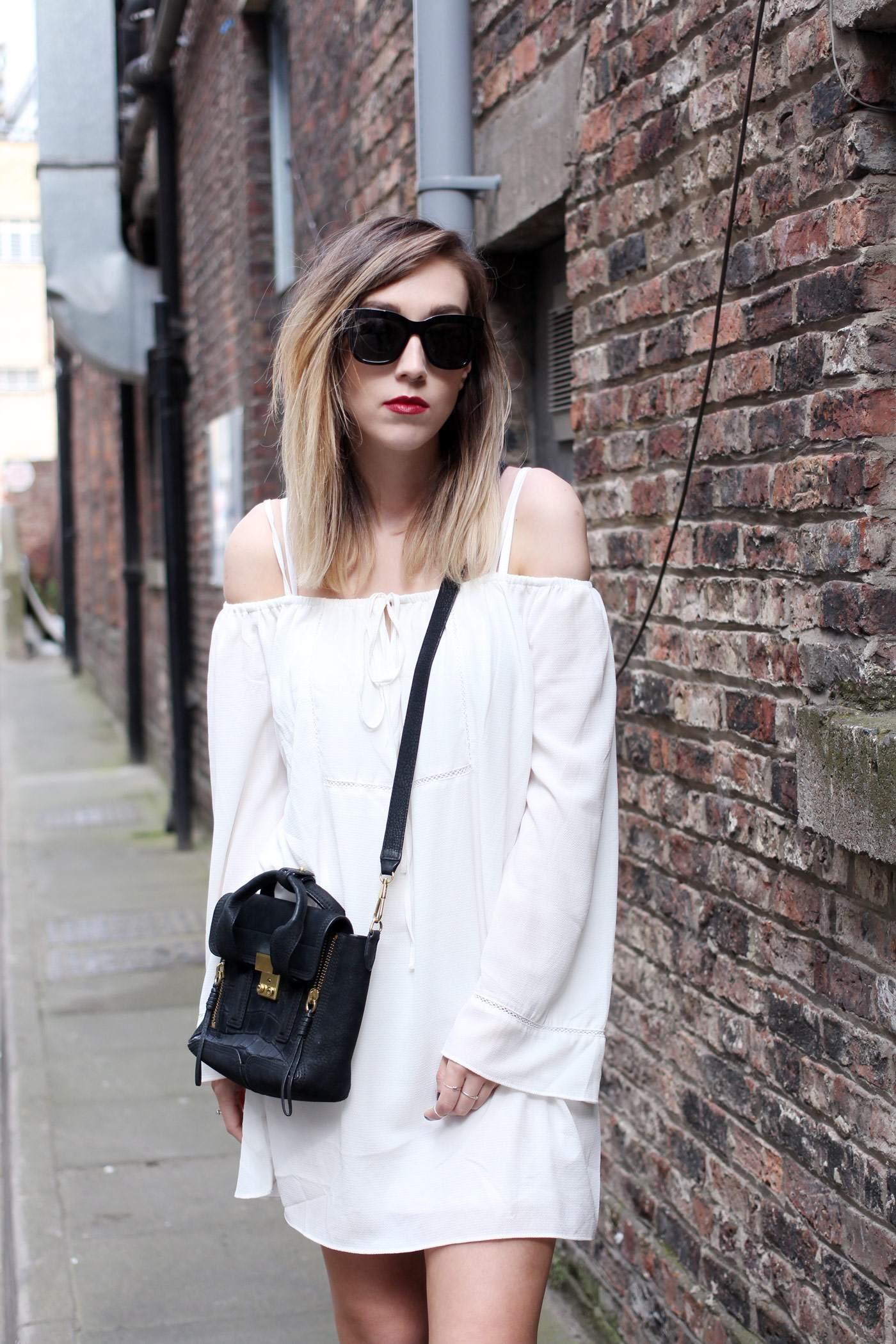 white-off-shoulder-dress-phillip-lim-pashli-mini-chloe-susanna-boots-3
