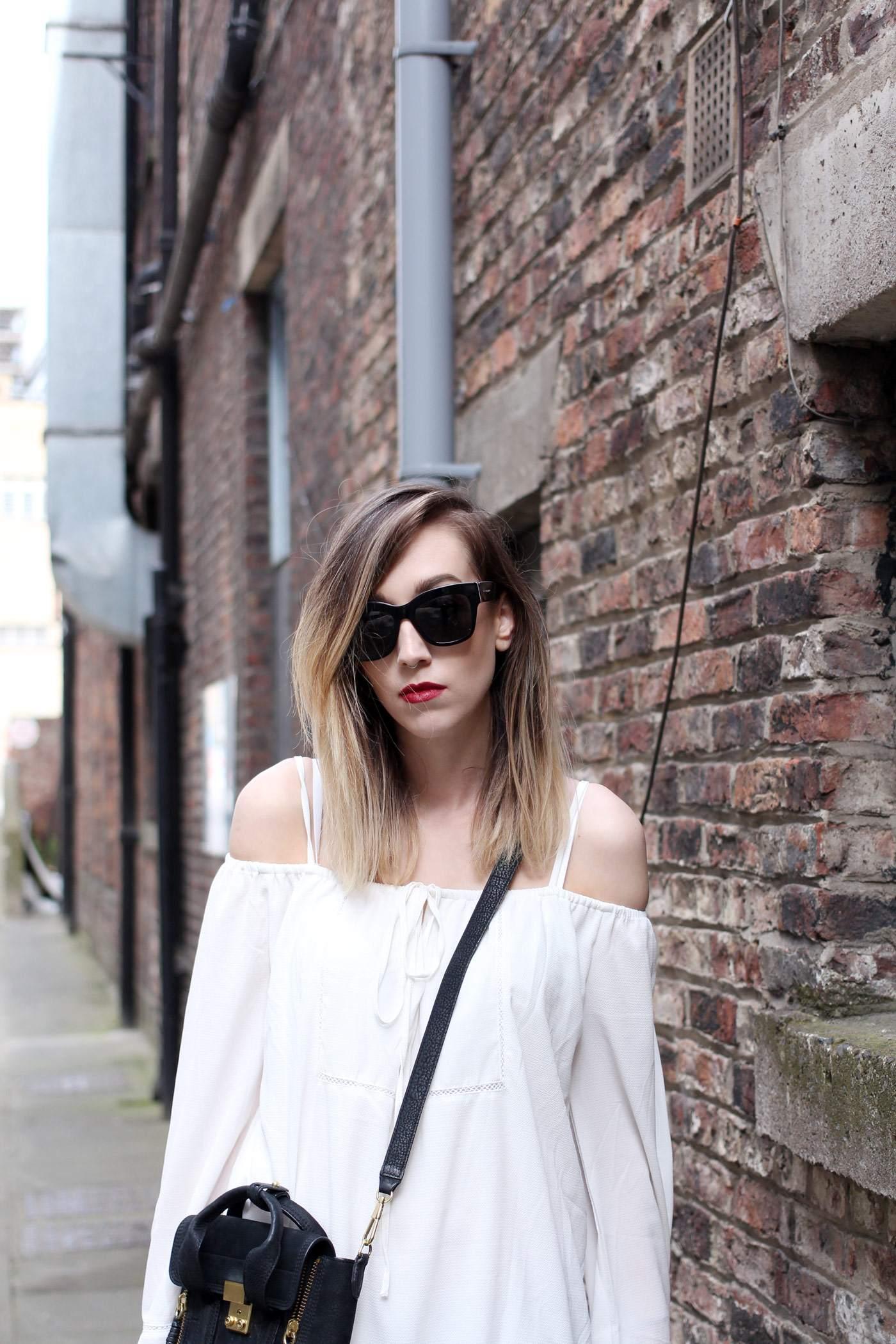 white-off-shoulder-dress-phillip-lim-pashli-mini-chloe-susanna-boots-4