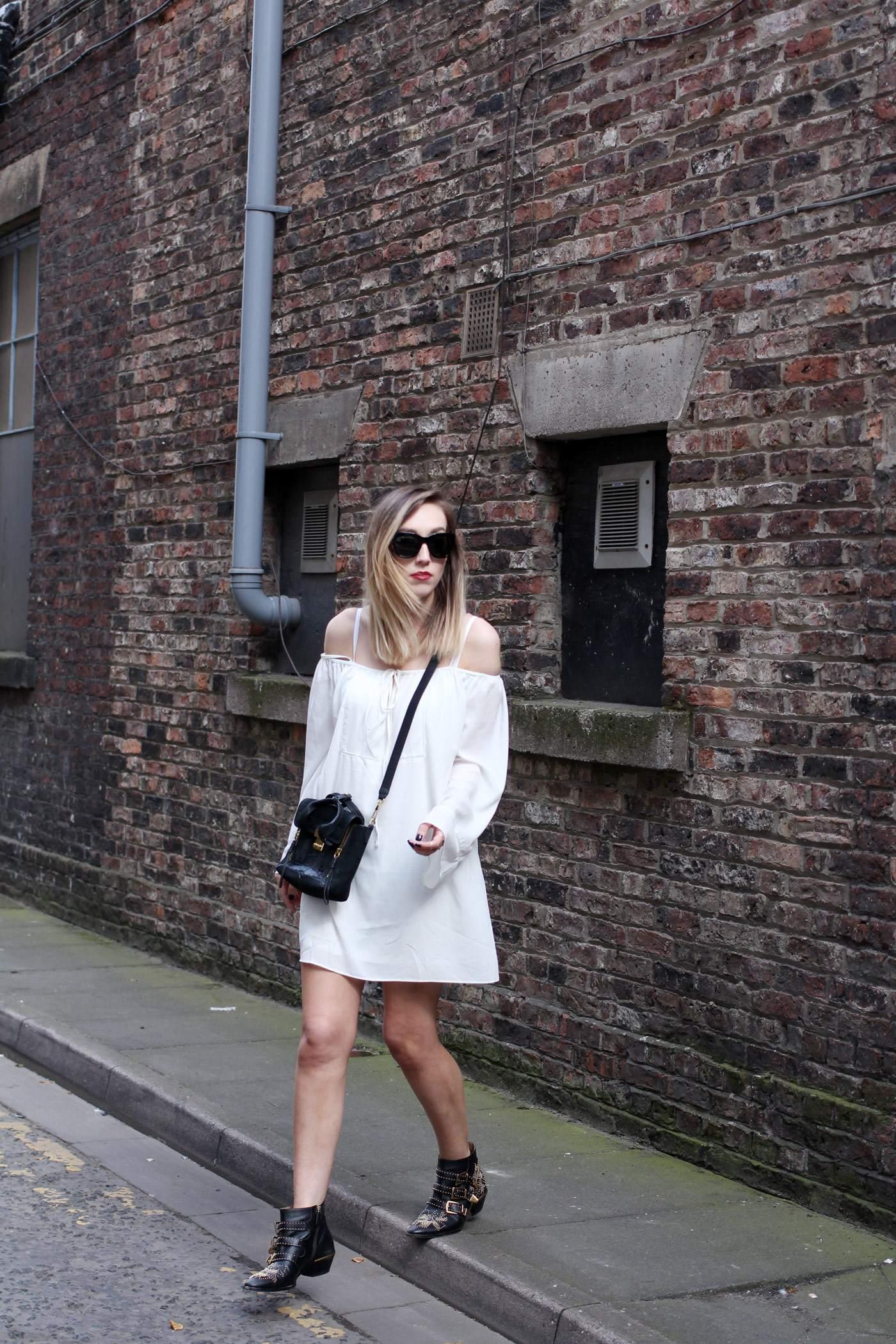 white-off-shoulder-dress-phillip-lim-pashli-mini-chloe-susanna-boots-5