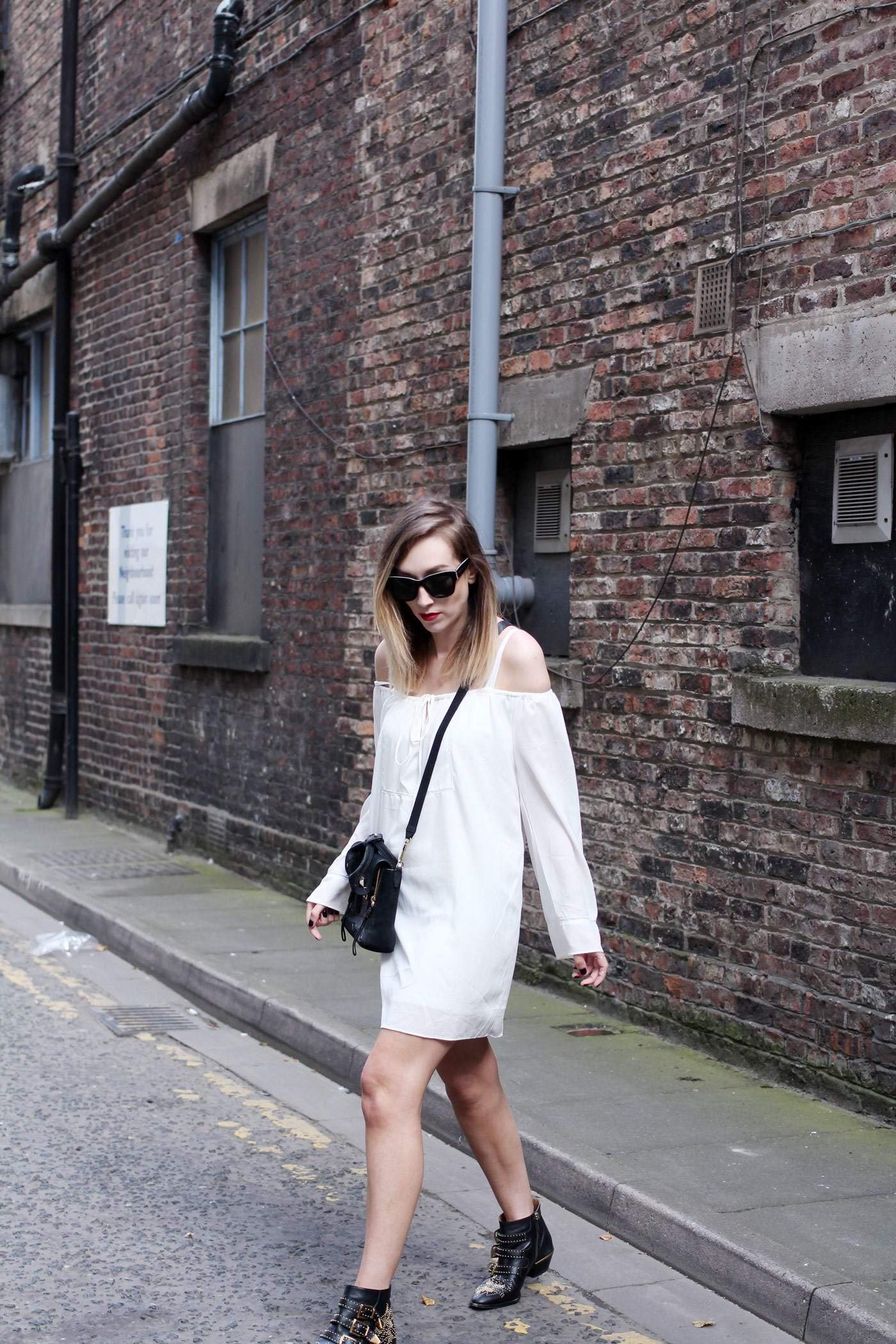white-off-shoulder-dress-phillip-lim-pashli-mini-chloe-susanna-boots-6