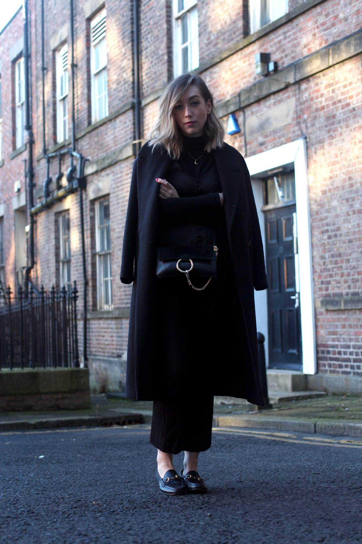 all-black-winter-look-nobodys-child-button-up-cami-gucci-loafers-chloe-faye-1jpg