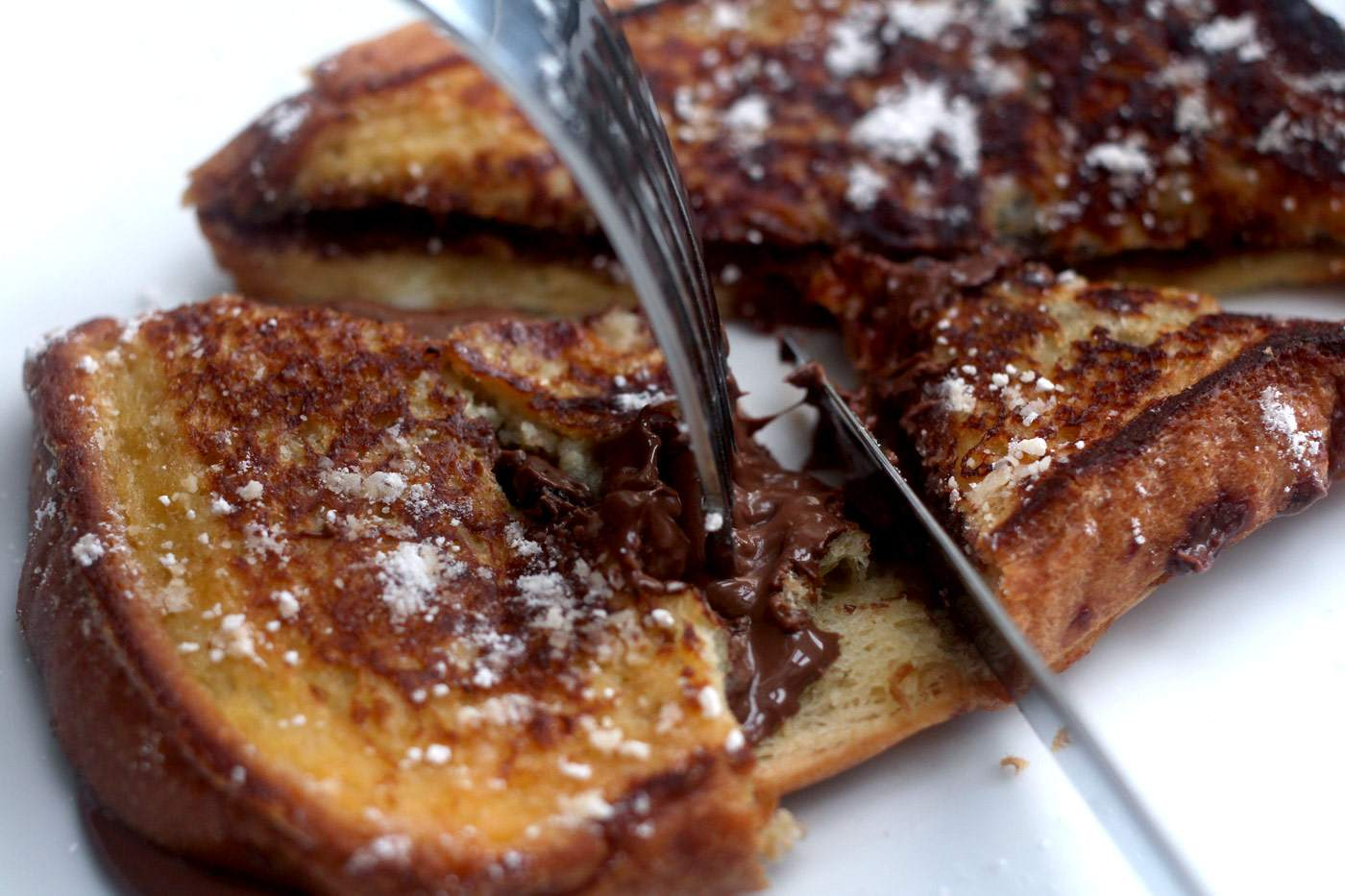 Nutella Stuffed French Toast with Brioche Pasquier - The Lovecats Inc