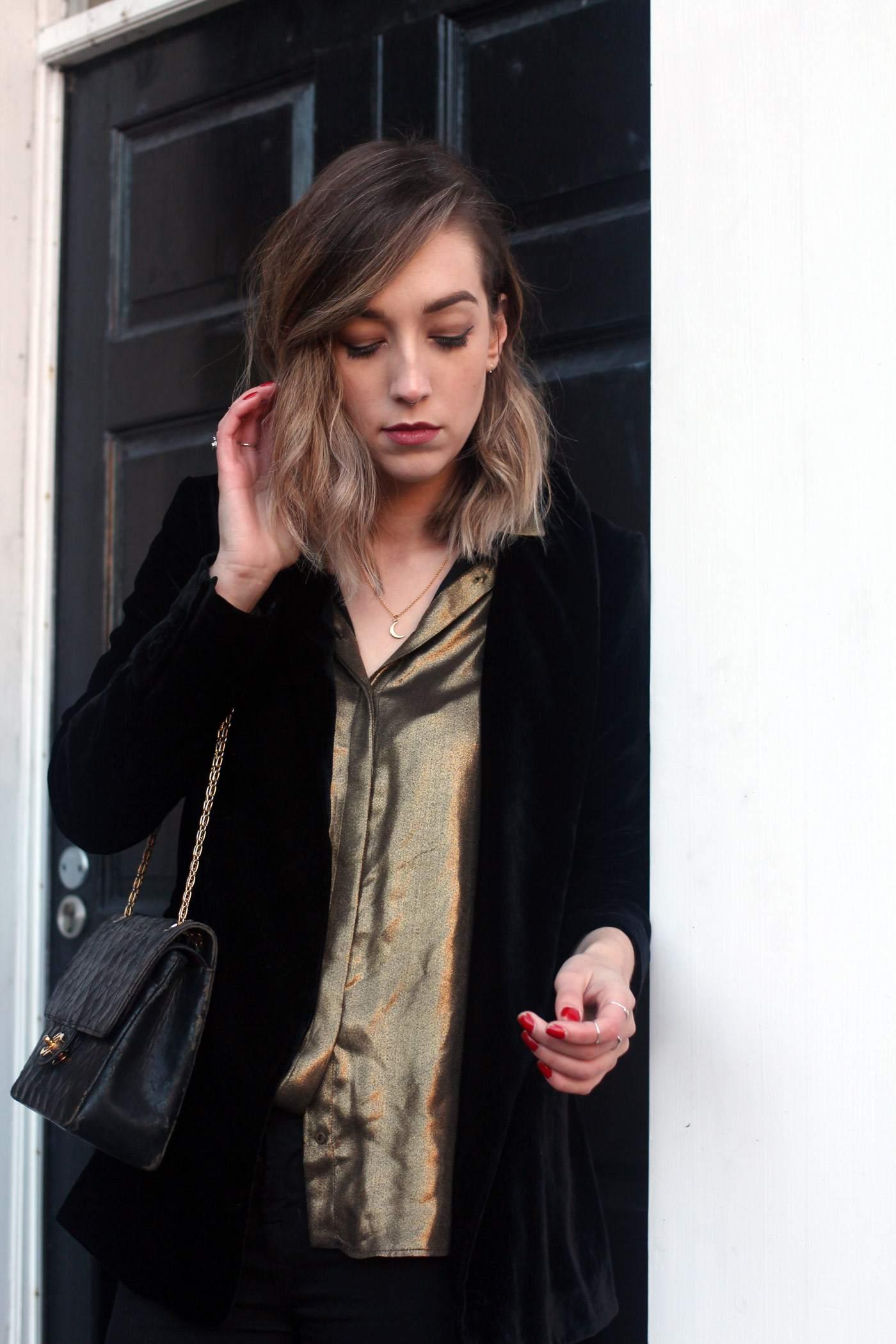 zara-velvet-belted-blazer-gold-shirt-vintage-chanel-acne-jensen-6