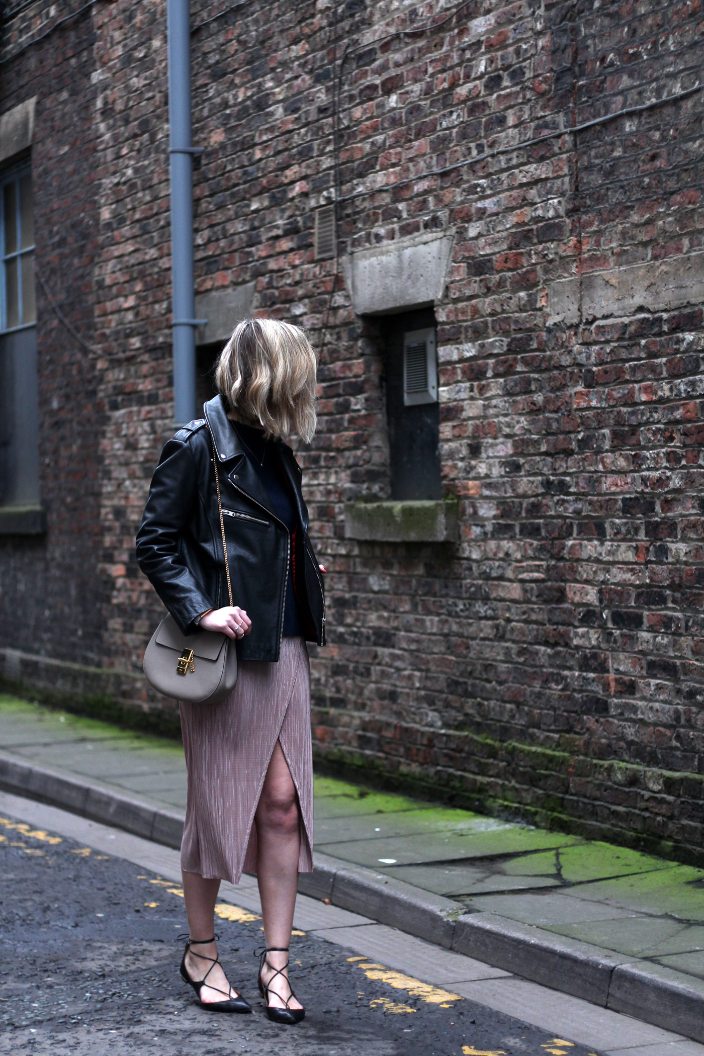 nude-midi-skirt-leather-jacket-chloe-drew-grey-