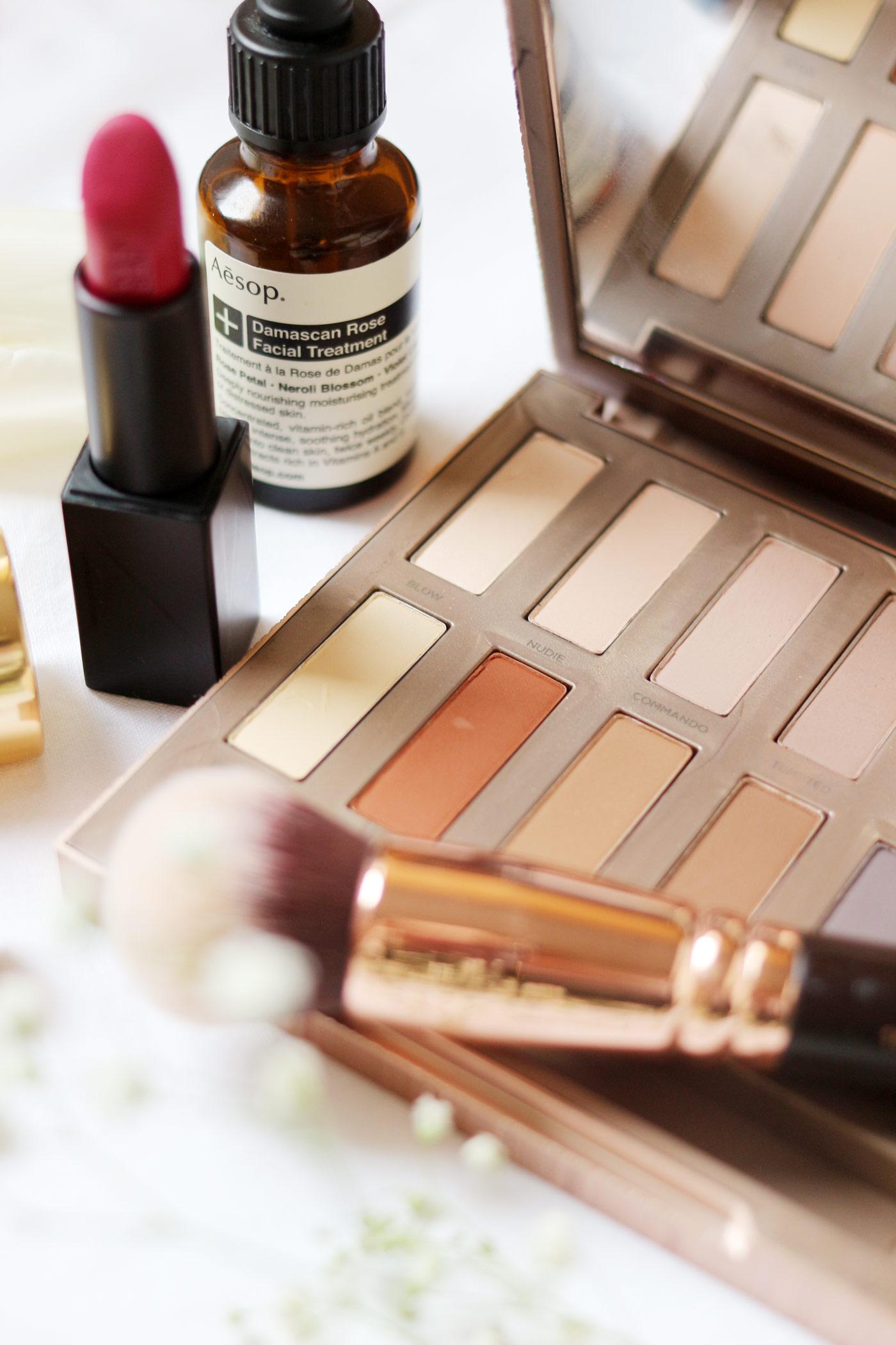 makeup-favourites-ysl-touche-eclat-foundation-NARS-vera-UD-naked-basics-1