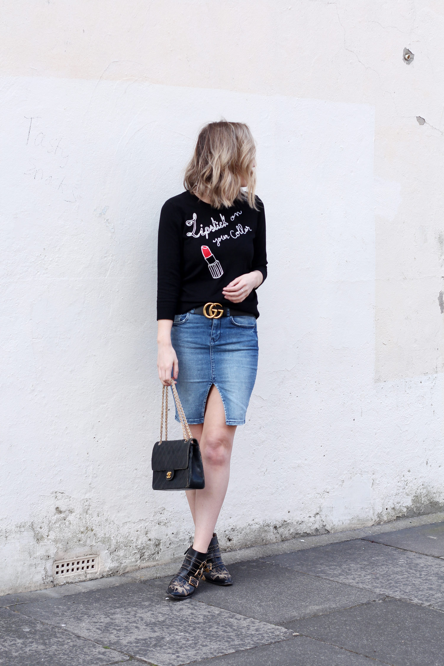 joanie-clothing-slogan-jumper-denim-skirt-vintage-chanel-4