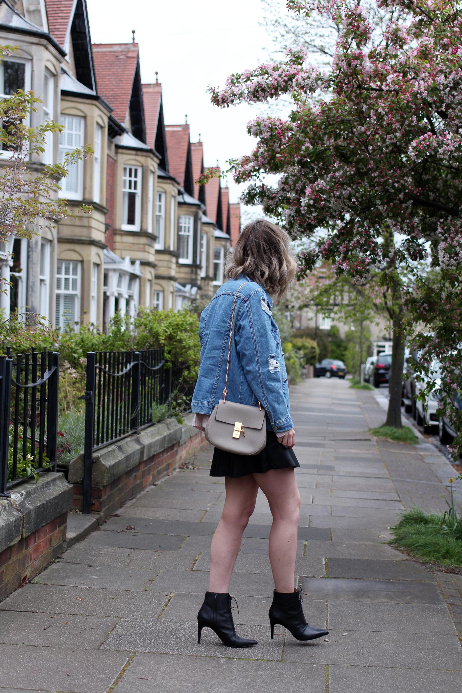 spring-denim-jacket-pink-jumper-leather-skirt-2