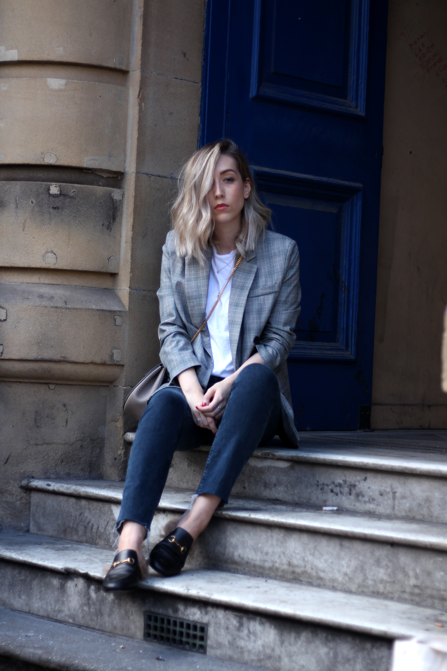 prince-of-wales-check-grey-black-white-blazer-topshop-gucci-sliders-12