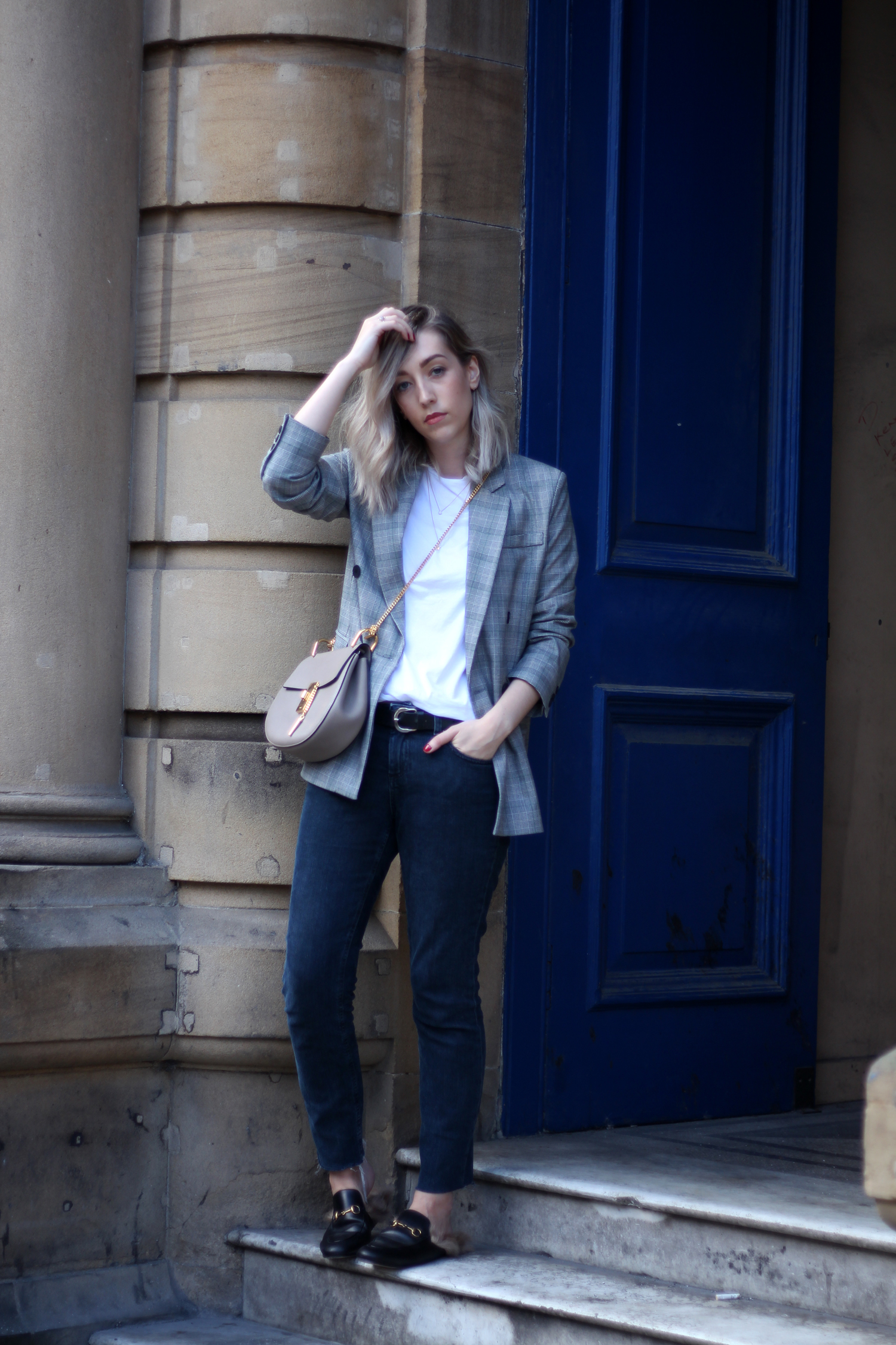 prince-of-wales-check-grey-black-white-blazer-topshop-gucci-sliders-7