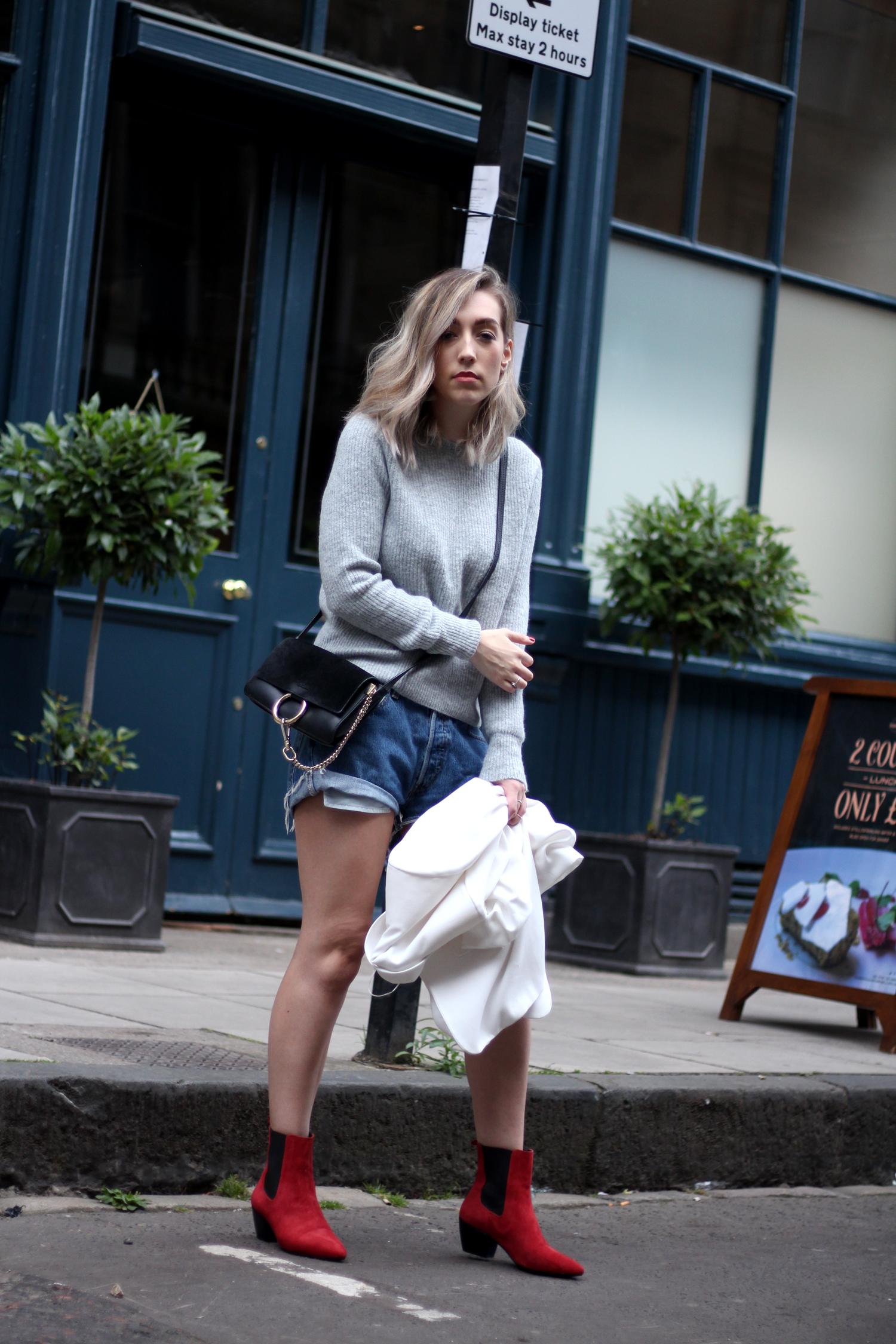 topshop-red-suede-chelsea-boots-grey-jumper-zara-white-blazer-12