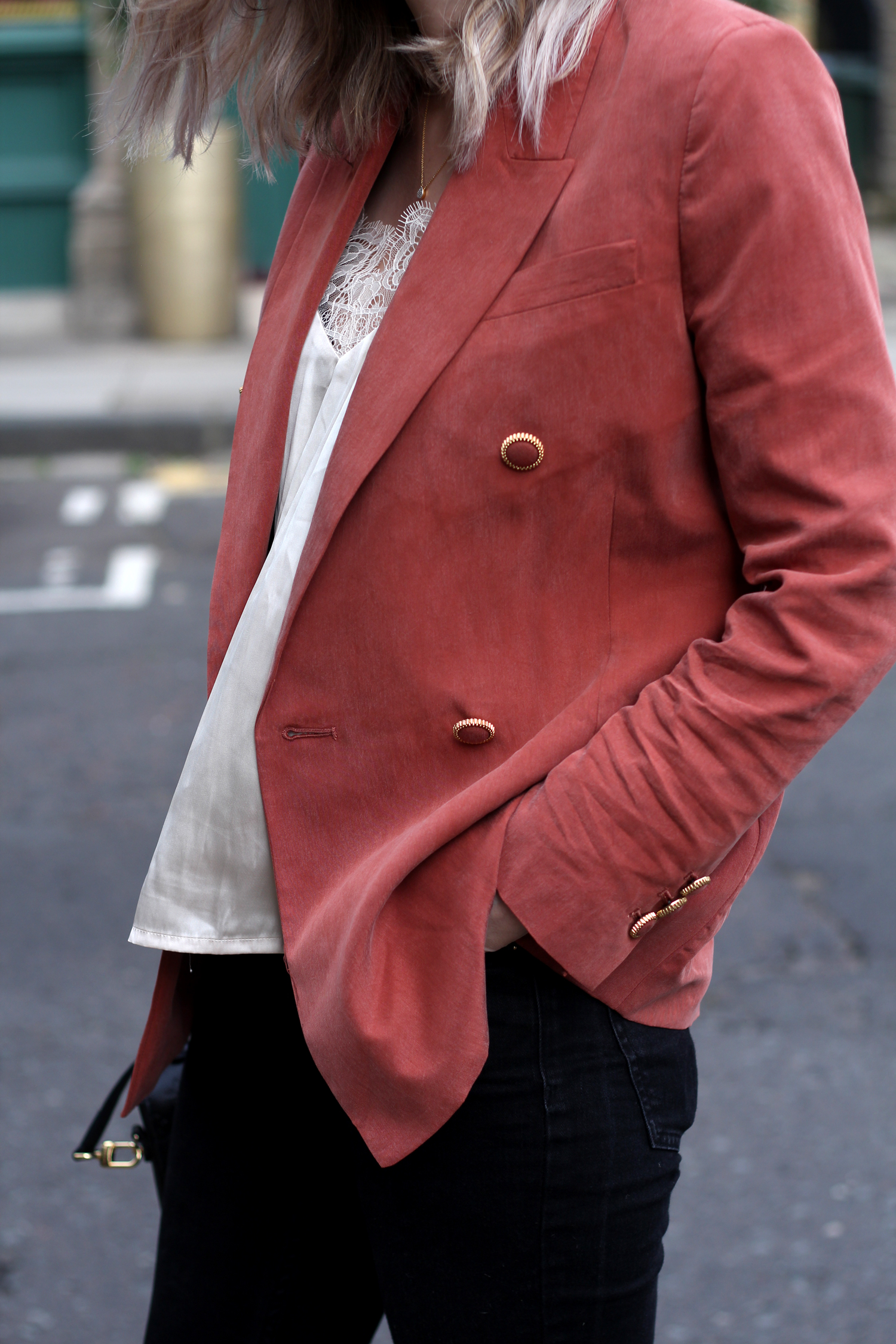 mango-peach-orange-blazer-gucci-princetown-loafers-19
