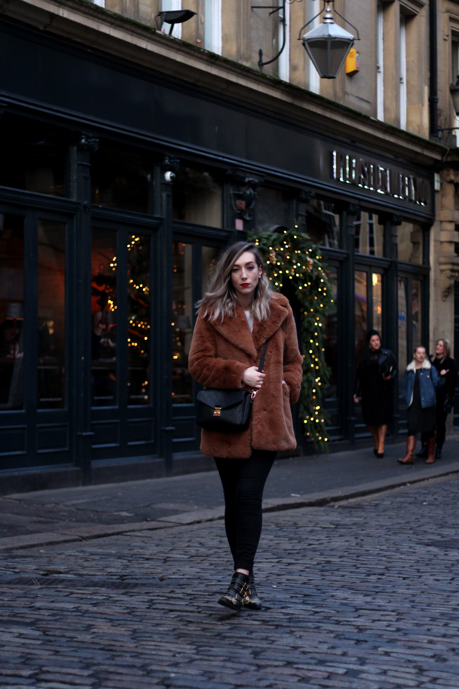 zara-toffee-faux-fur-textured-collar-coat-vintage-brown-fur-coat