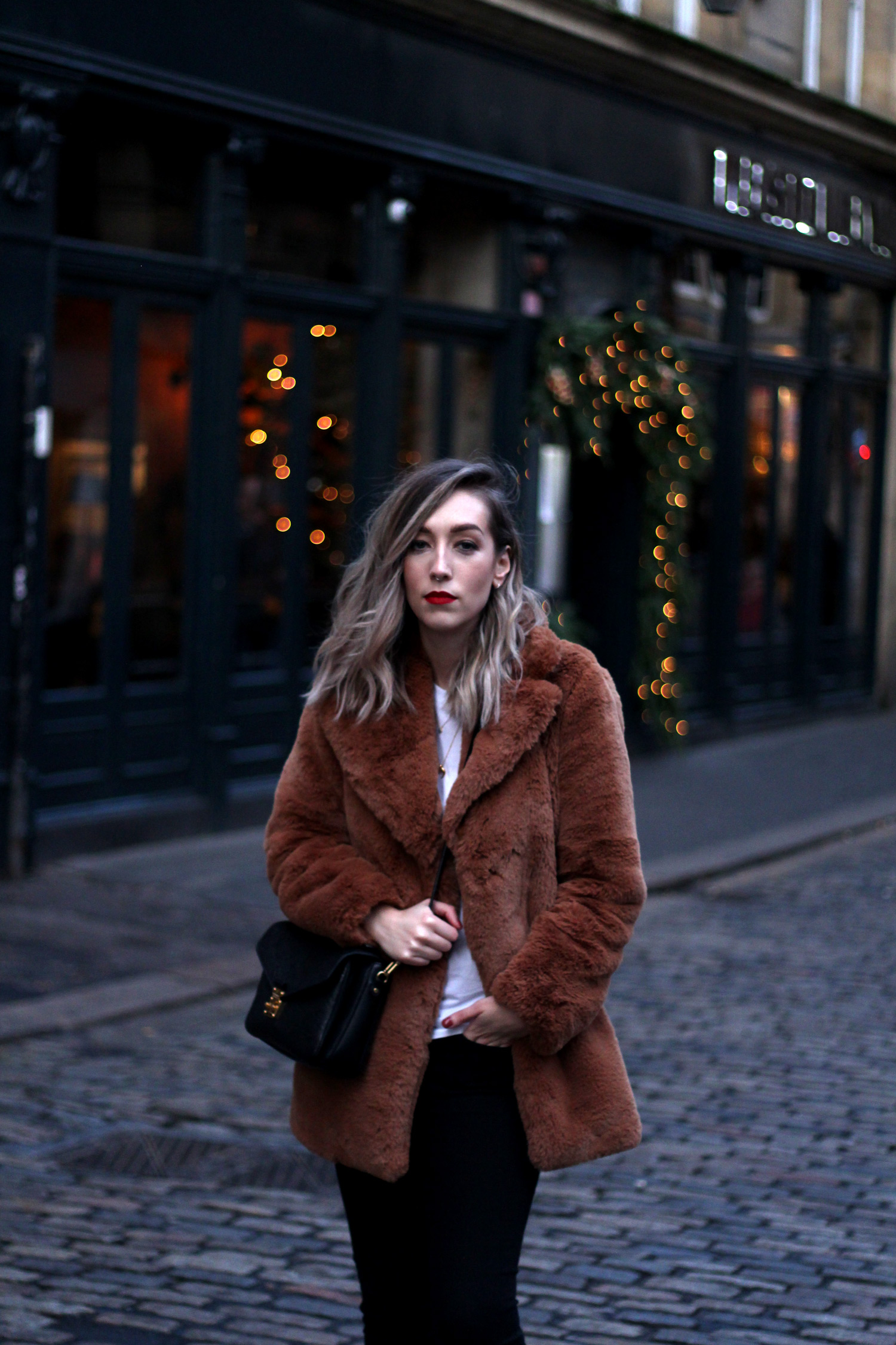 zara-toffee-faux-fur-textured-collar-coat-vintage-brown-fur-coat.-9