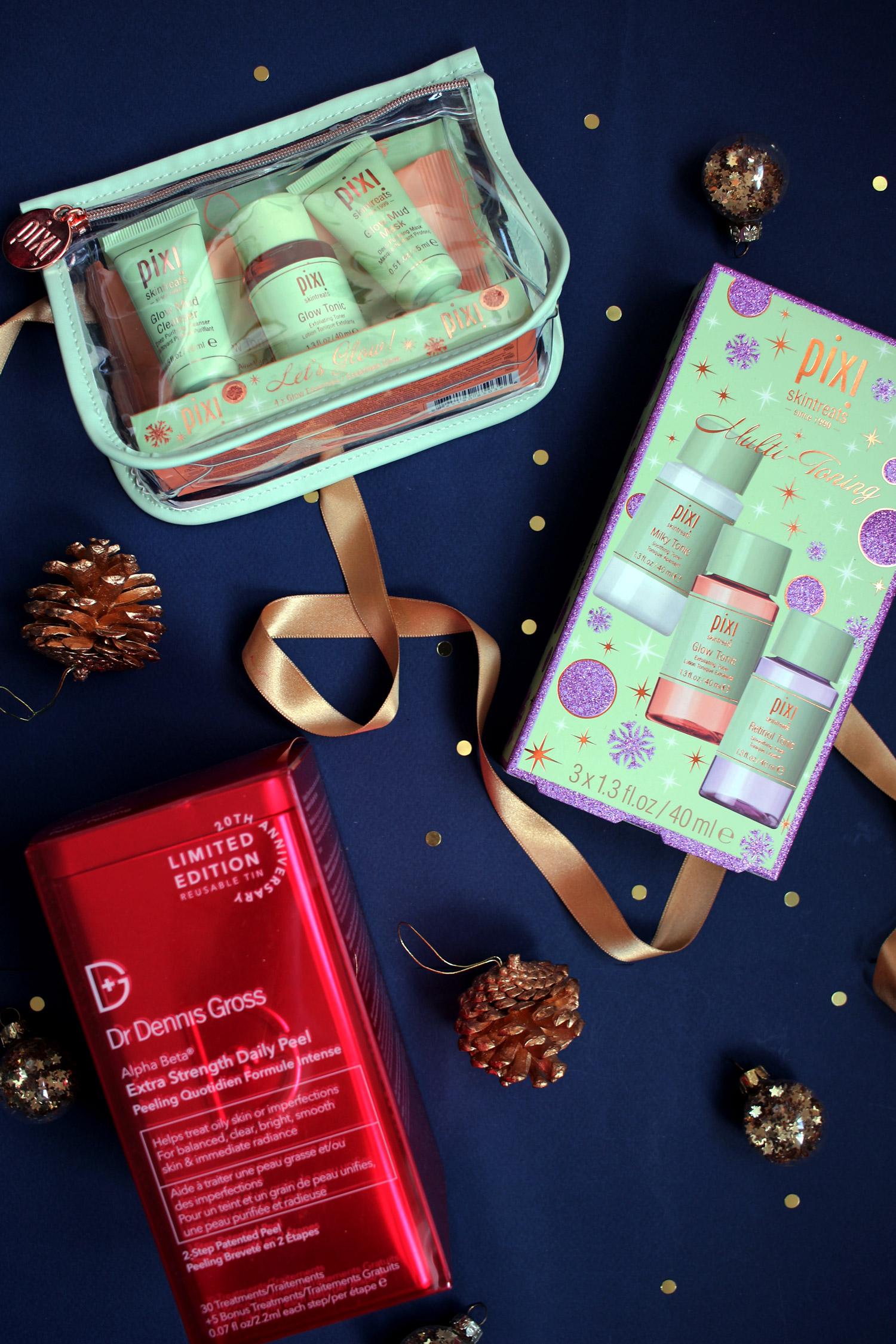 christmas-2020-beauty-gift-guide-skincare-pixi-glow-set-dennis-gross-peel