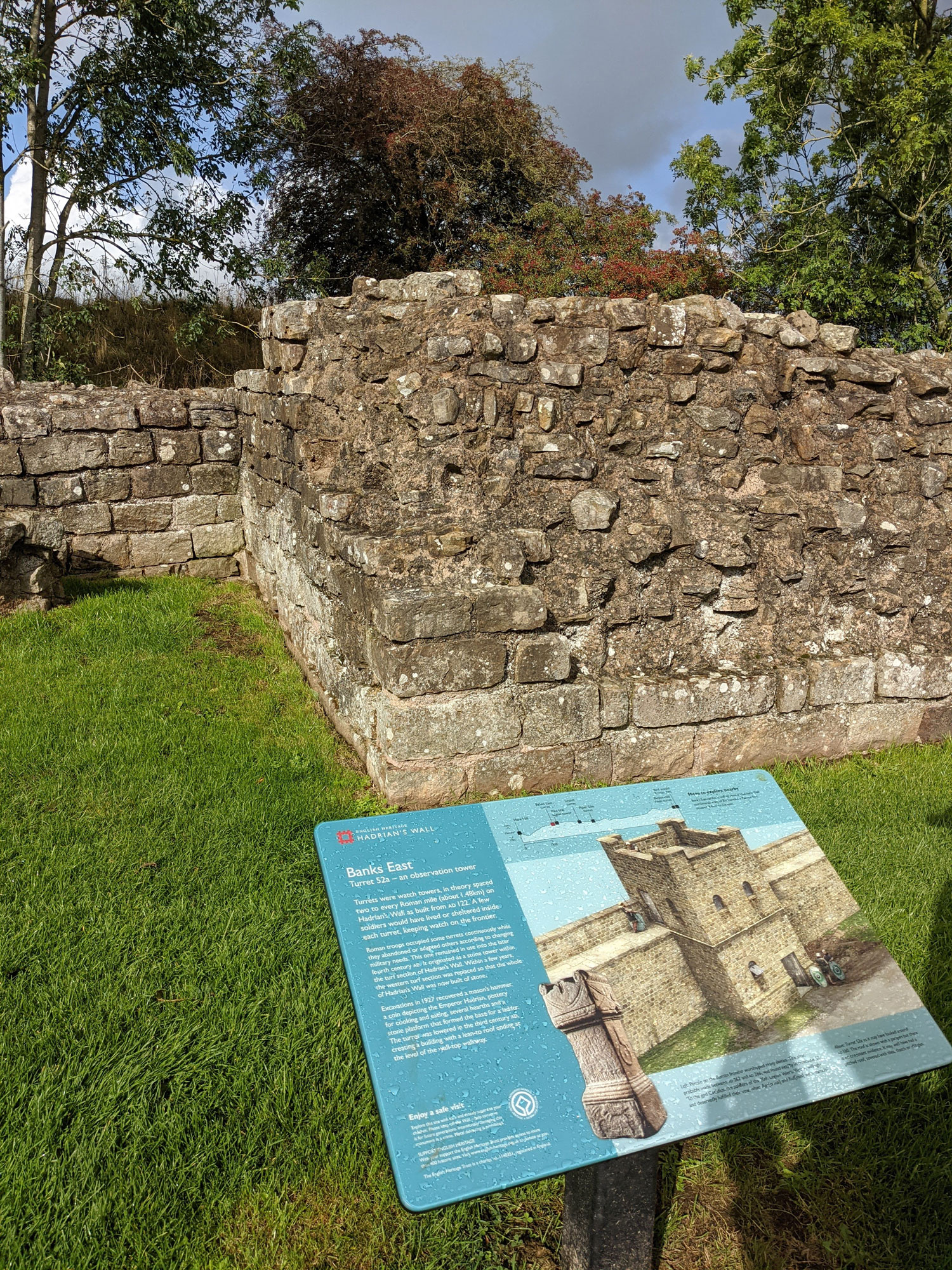 One of the first parts of the Roman wall that you see