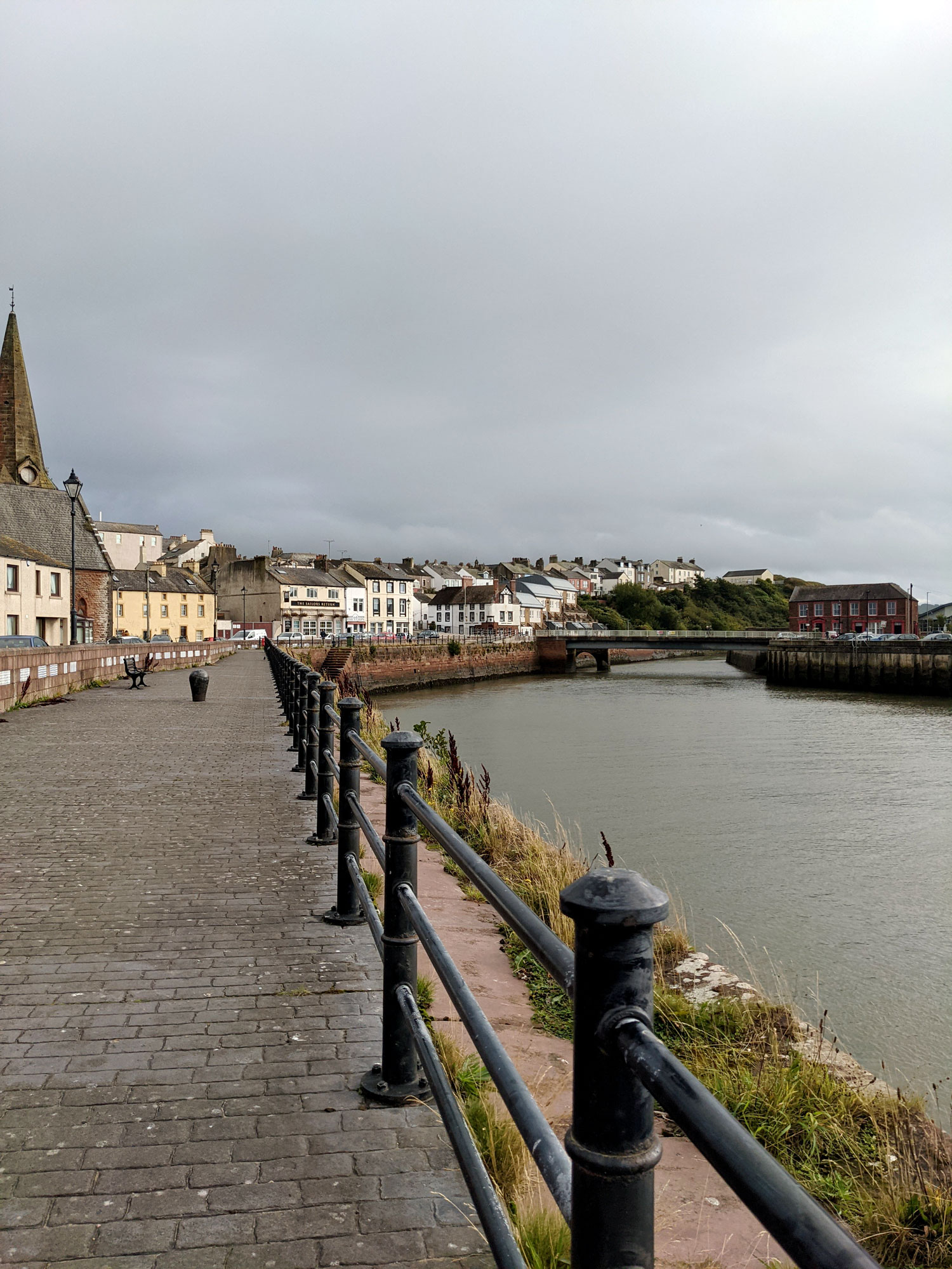 North West Coast and Hadrians Wall Path Route Maryport
