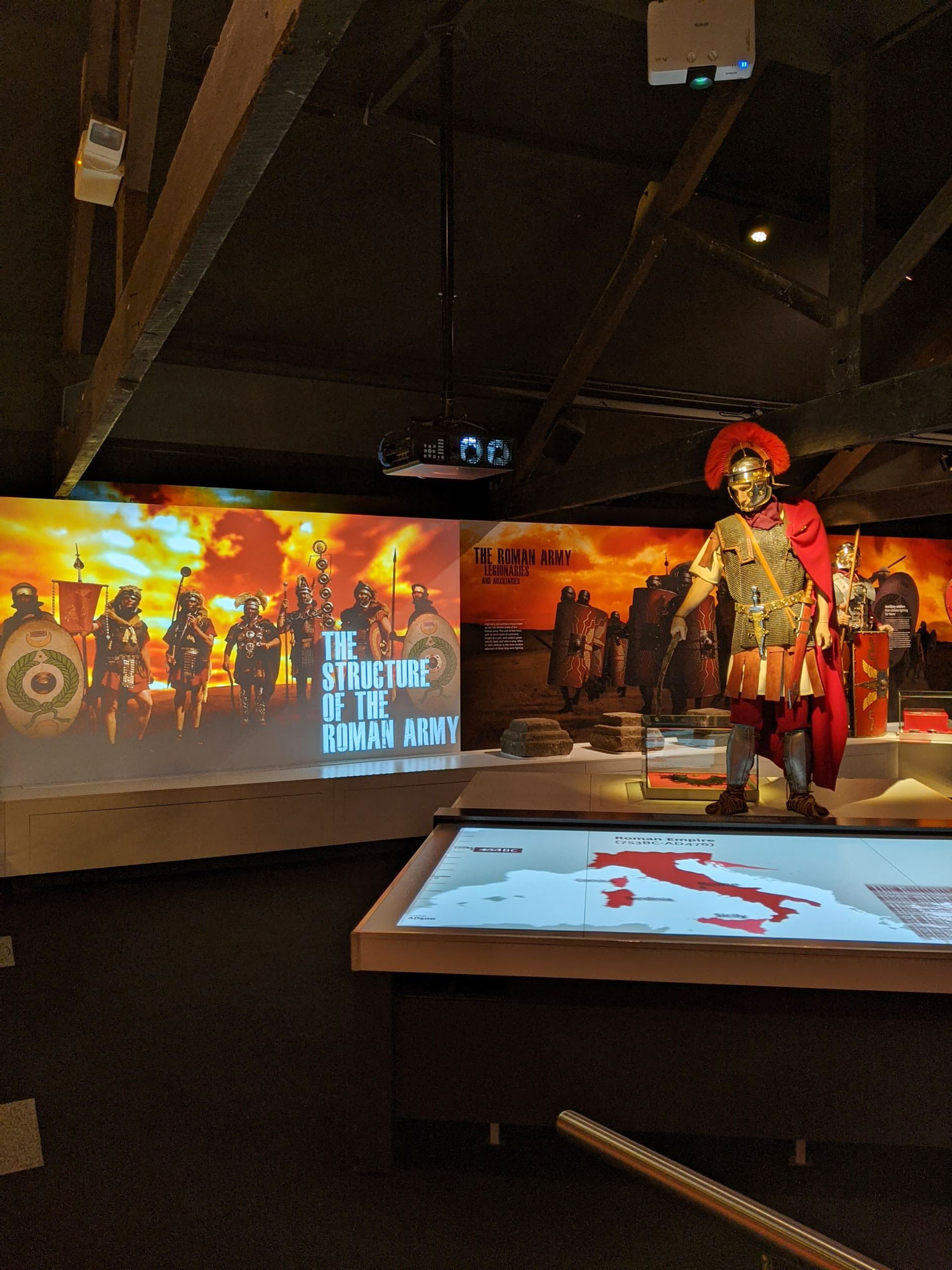 At the Roman Army Museum