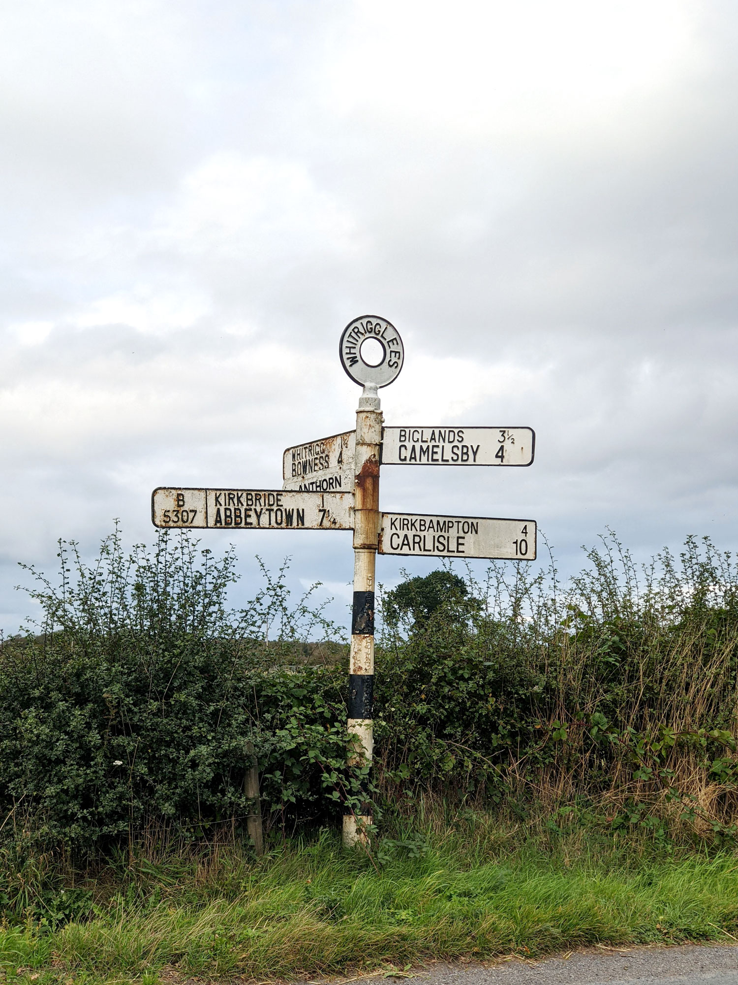 The sign to Abbeytown